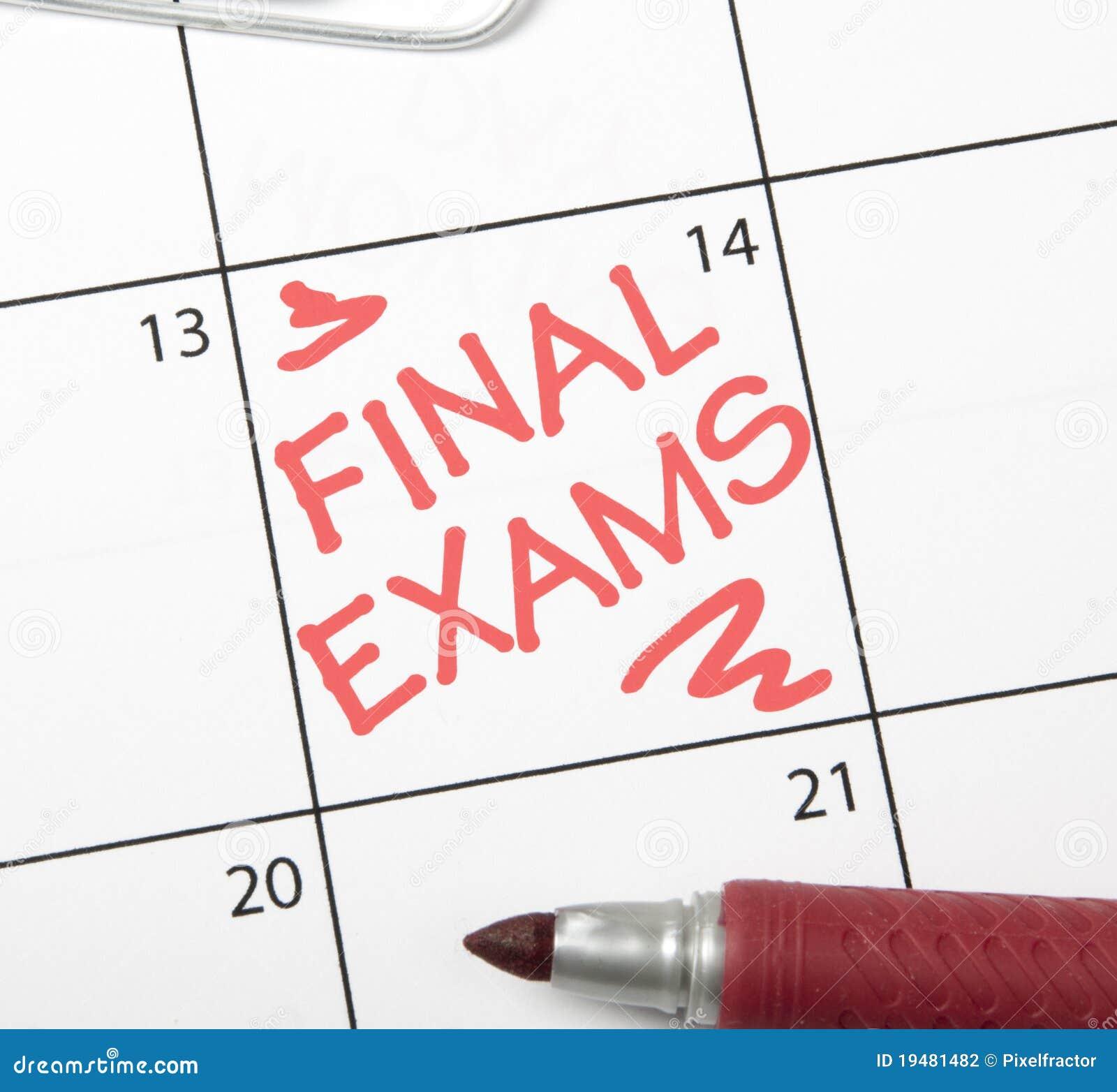 Calendar Reminder Final Exams Stock Photography Image