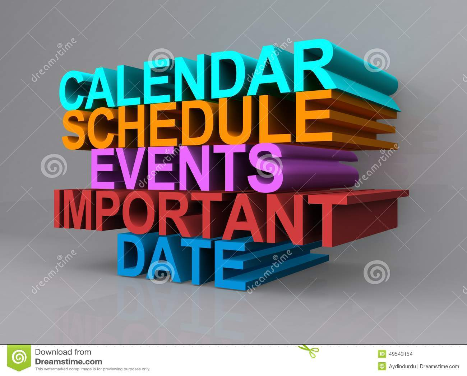Calendar, schedule, events, important date