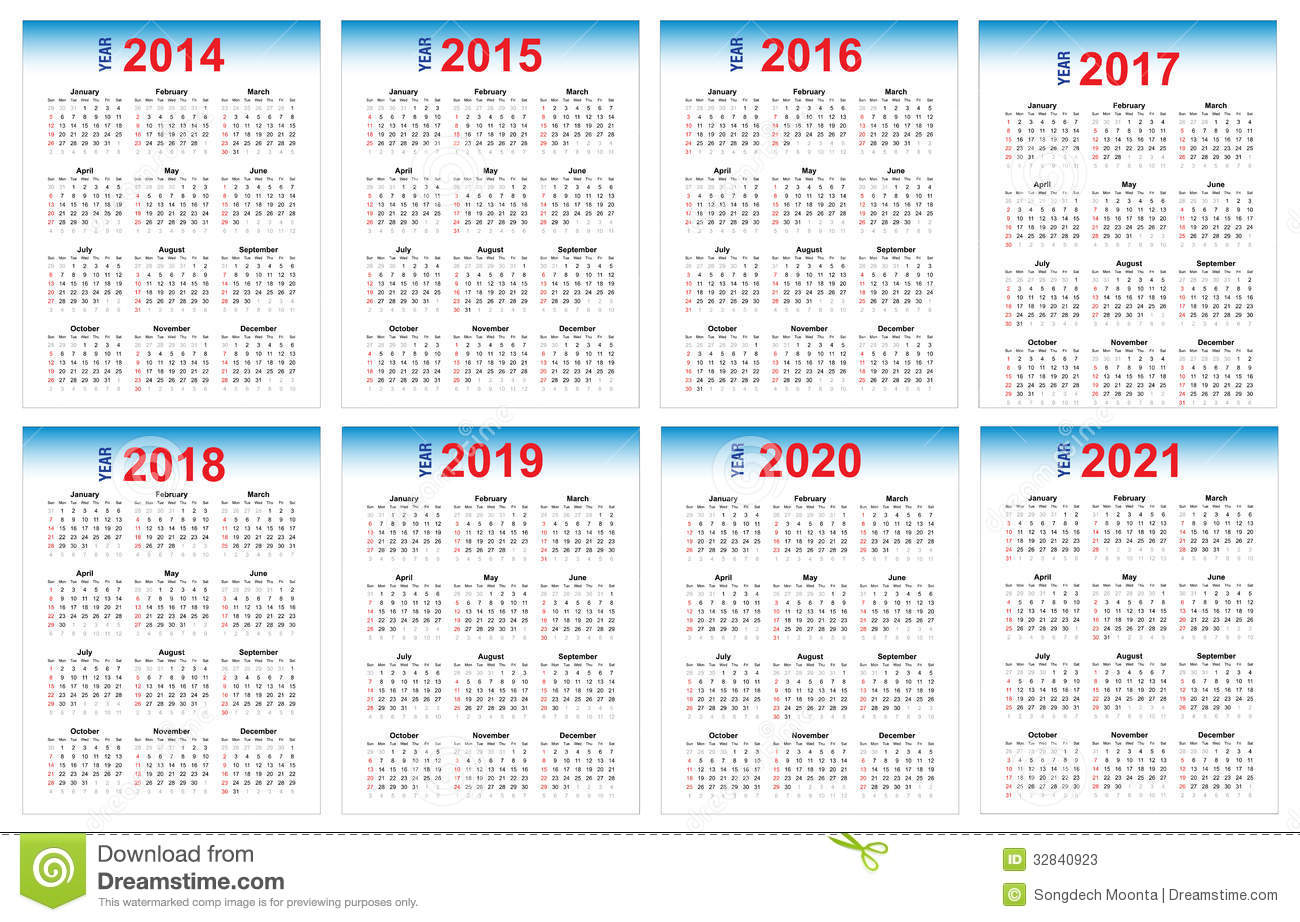 Calendar 2014 And 2020 Calendar 2014 2021 stock vector. Illustration of 2017   32840923