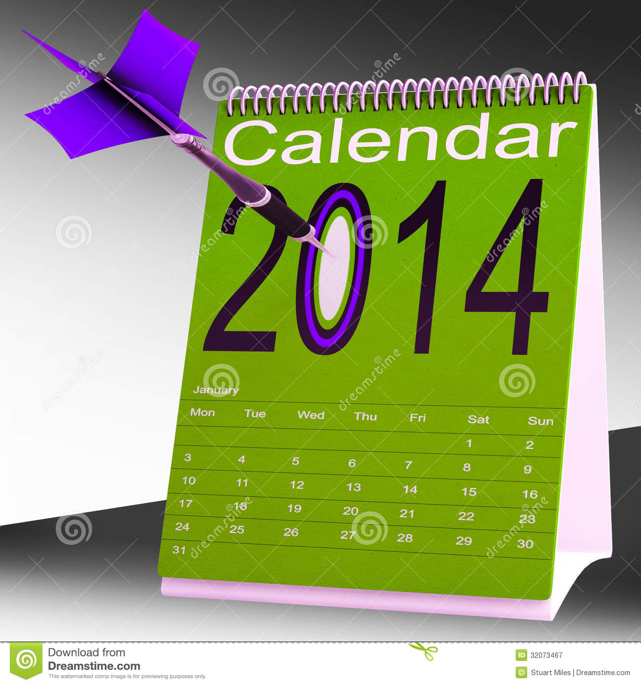 2014 calendar shows future target plan royalty free stock for Future planner online