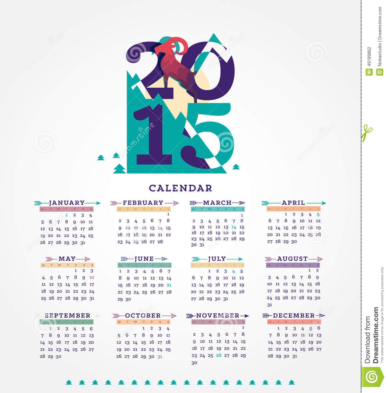 Calendar For Typography Nerds : Calendar stock illustration image