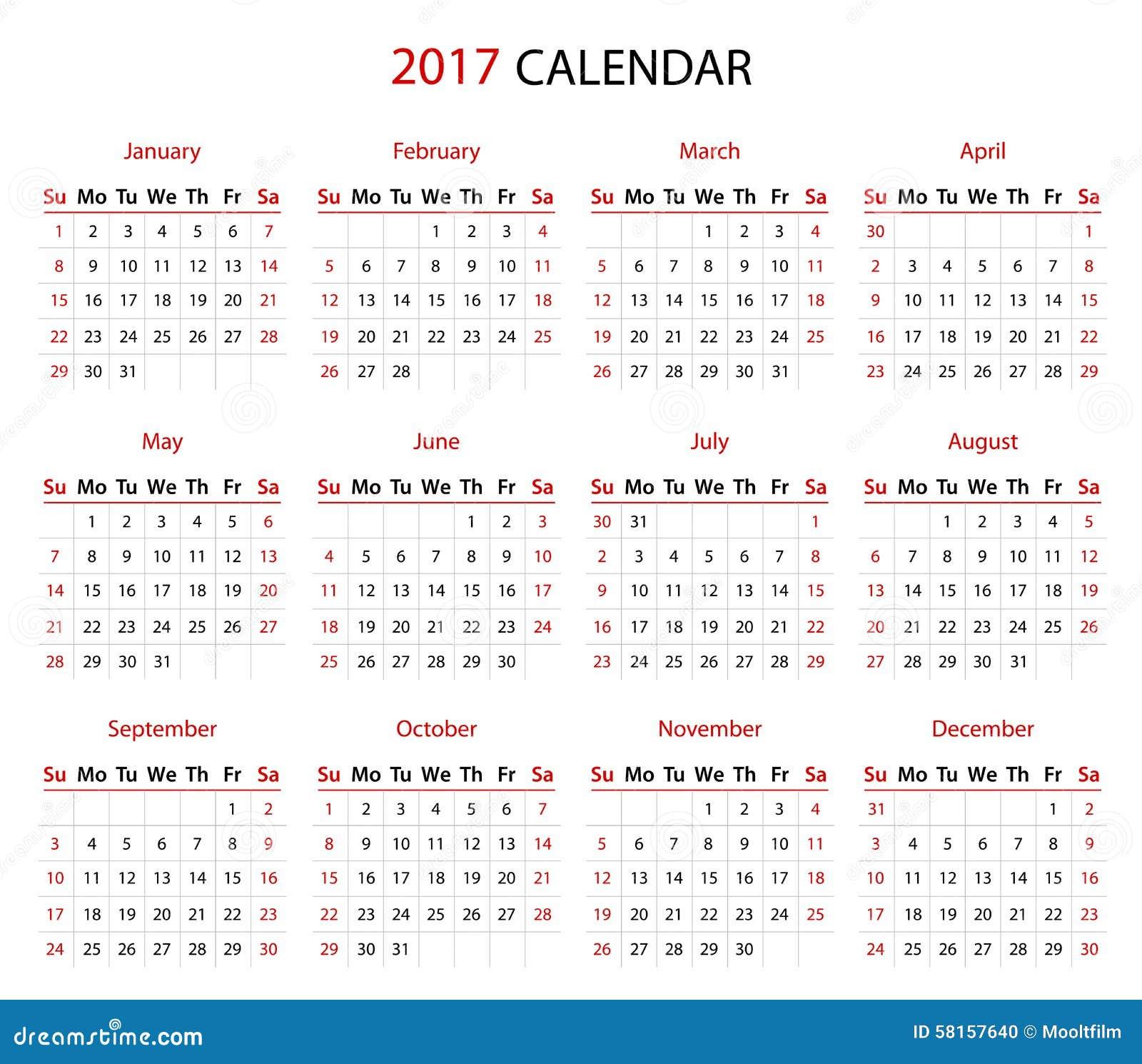 Calendar Red : The calendar stock vector image