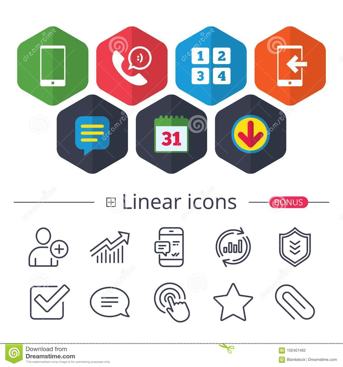 Phone icons call center support symbol stock vector phone icons smartphone incoming call sign call center support symbol cellphone keyboard symbol chat report graph line icons more linear signs vector biocorpaavc Images