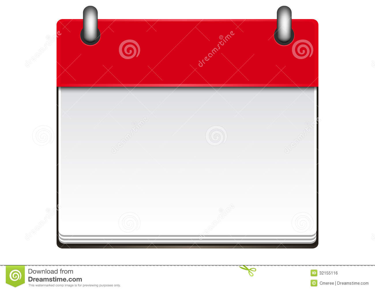 Calendar Template Royalty Free Stock Image - Image: 32155116