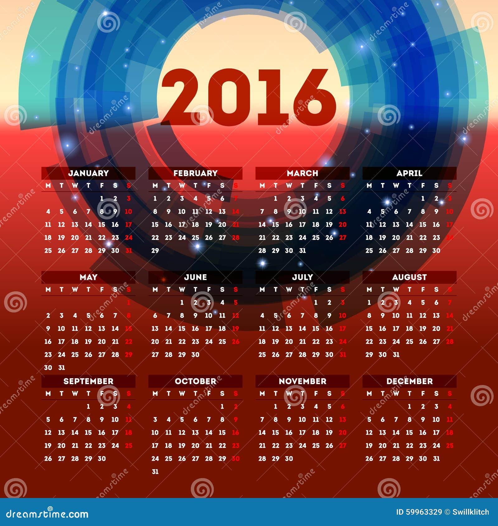 Calendar Header Design : Calendar template design