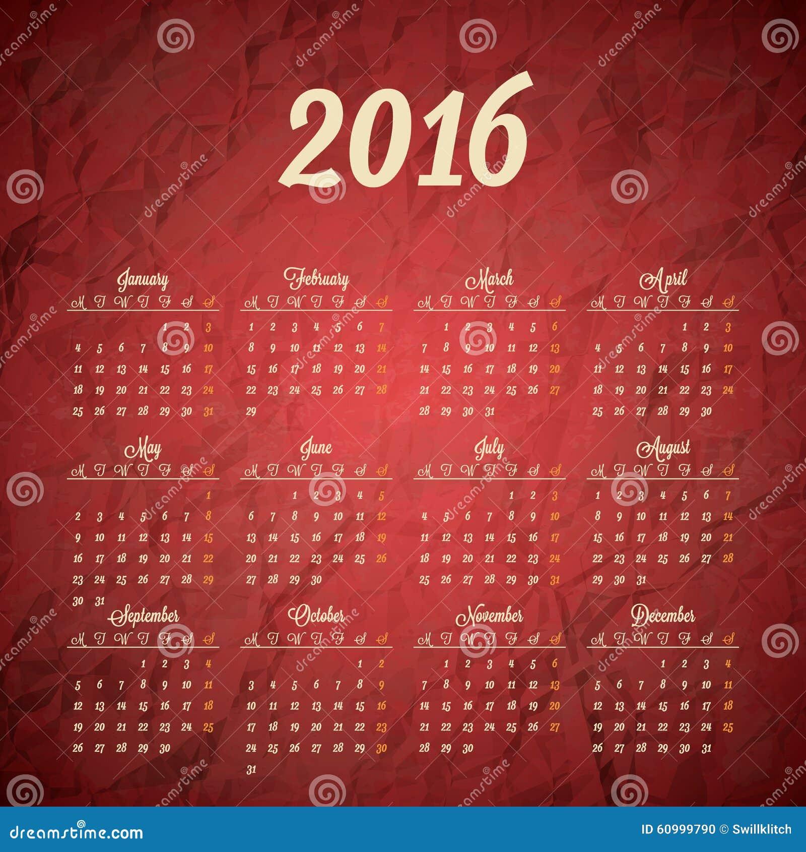 Calendar Header Design : Calendar template design stock vector image