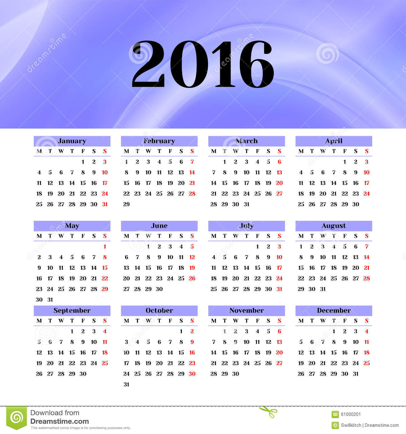 blank tear off calendar template in variety of colors vectors