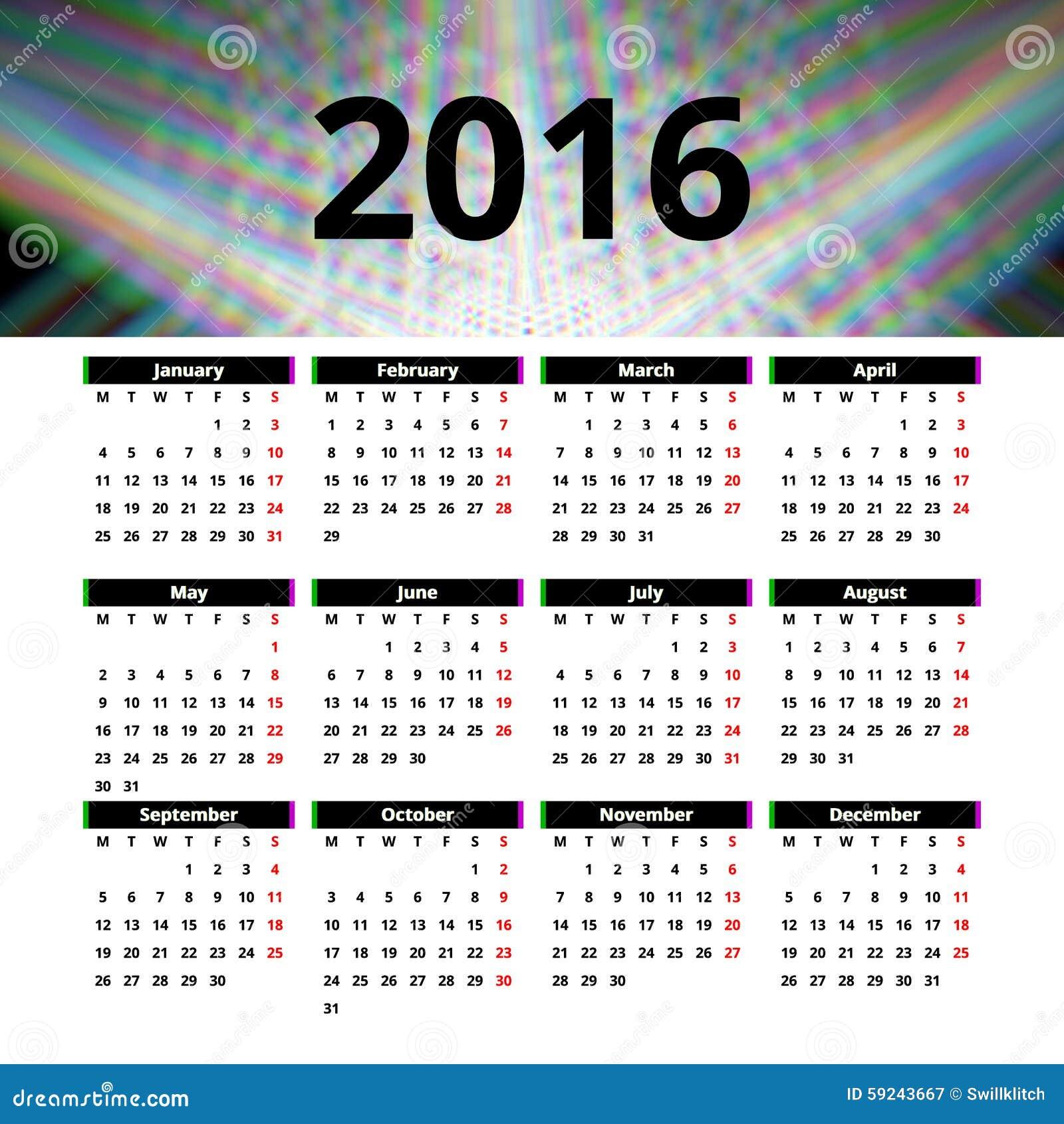 Calendar Header Design : Calendar template design with header picture starts