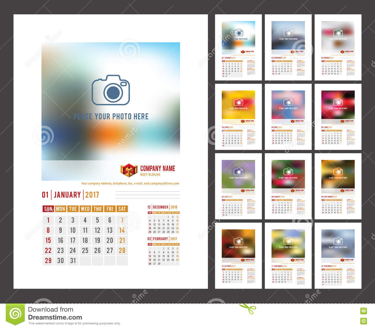 Photography Calendar Printing : Calendar template stock vector image of schedule