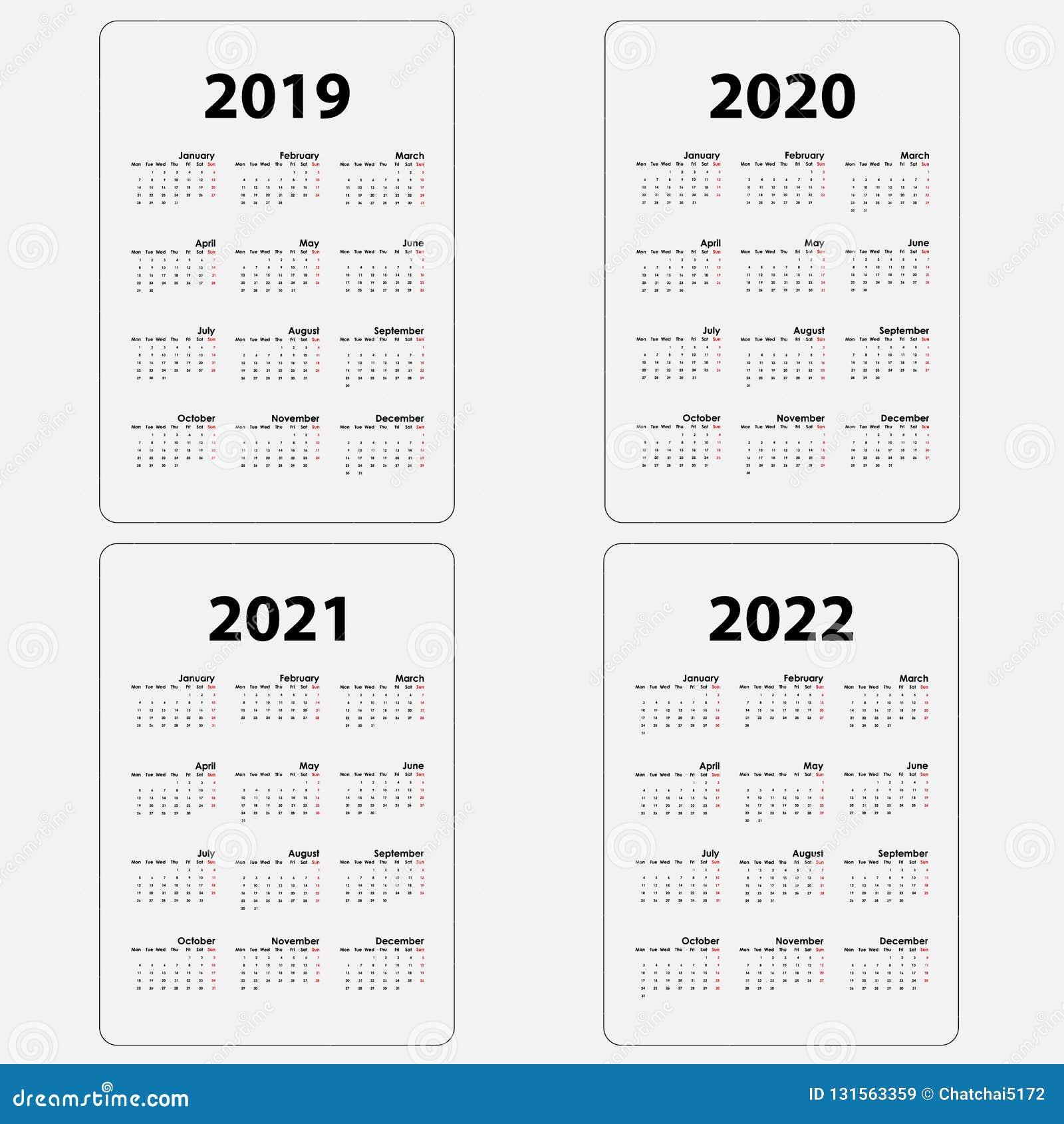 Calendario Fita 2021 2022 Calendar 2019,2020,2021 & 2022 Template.Calendar Design.Yearly