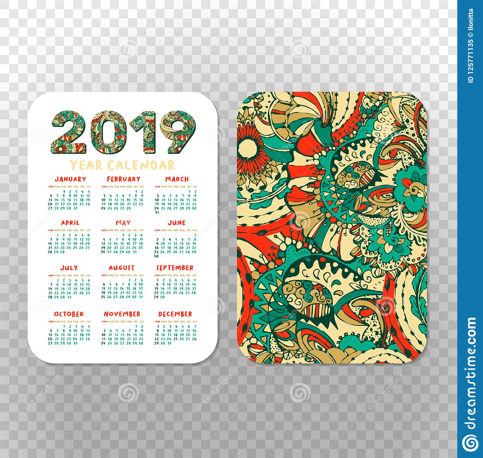 Pocket Calendar Template from thumbs.dreamstime.com