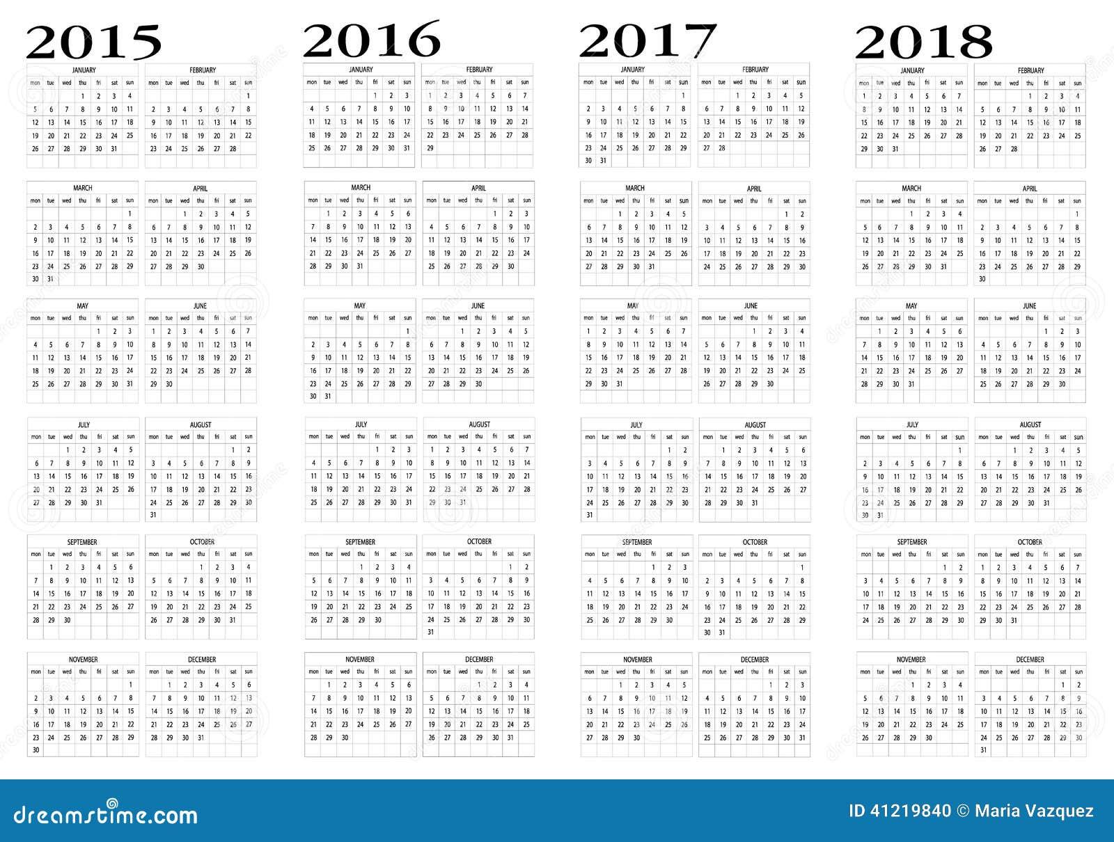 Календарь на 2017-2018 год с неделями