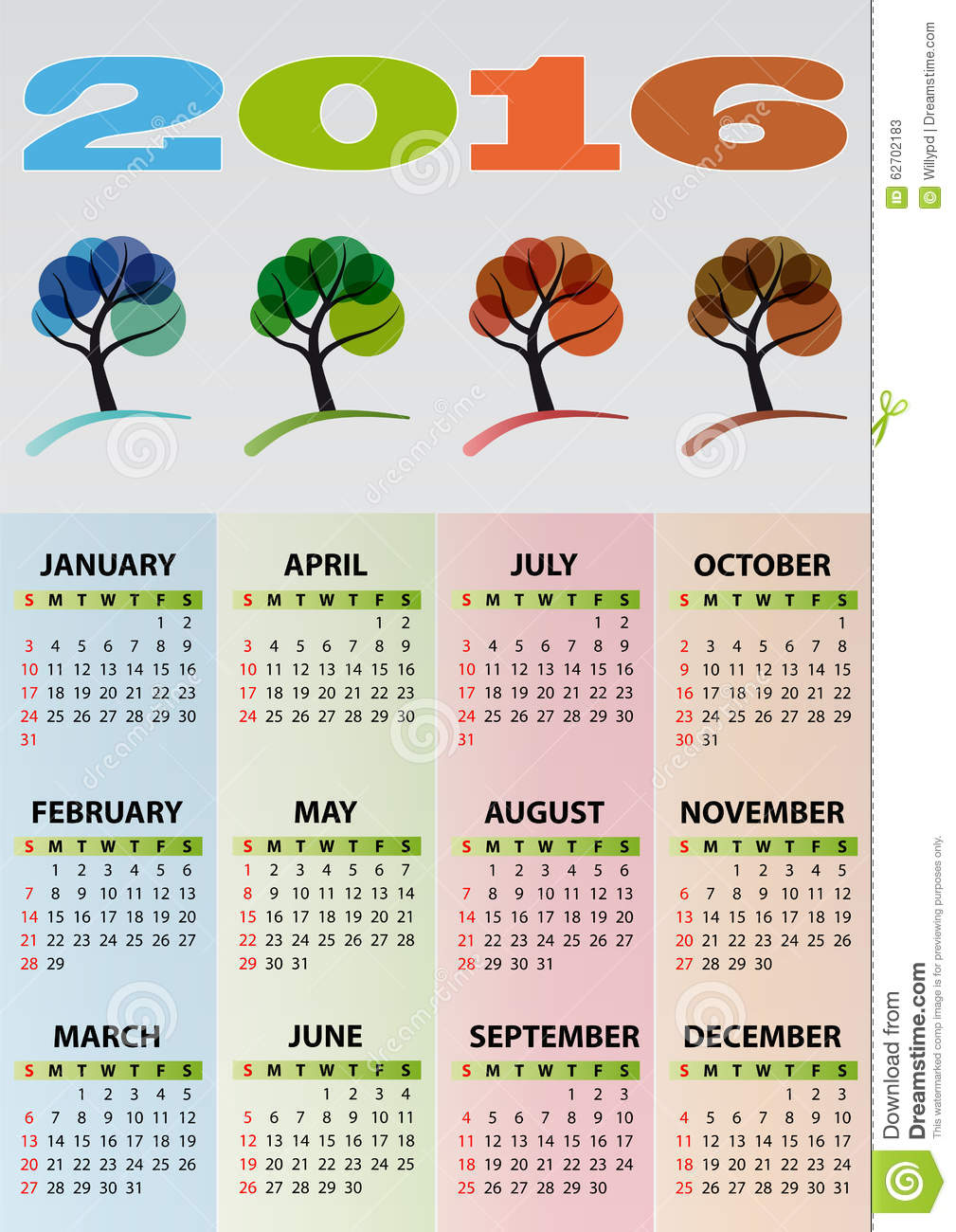 Calendar Illustration Yahoo : Calendar tree stock vector image of brown holiday