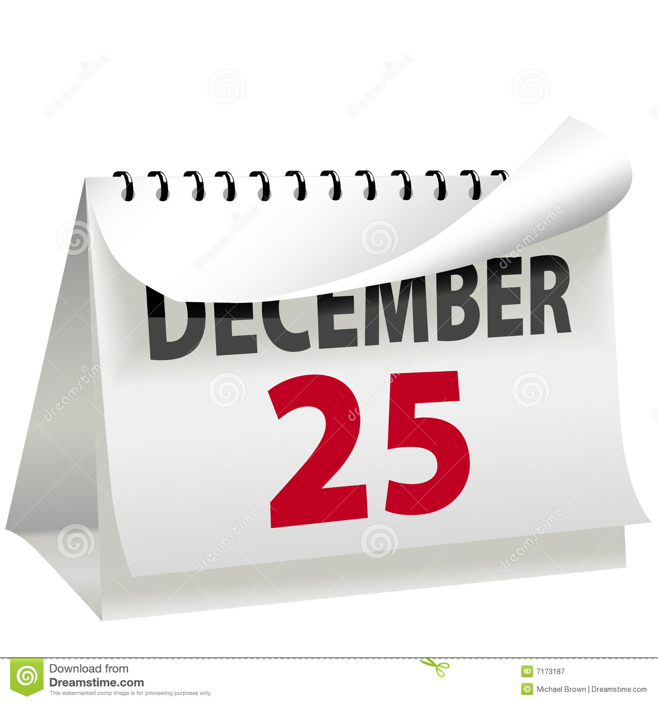Calendar Turns Page To Christmas DECEMBER 25 Royalty Free Stock ...