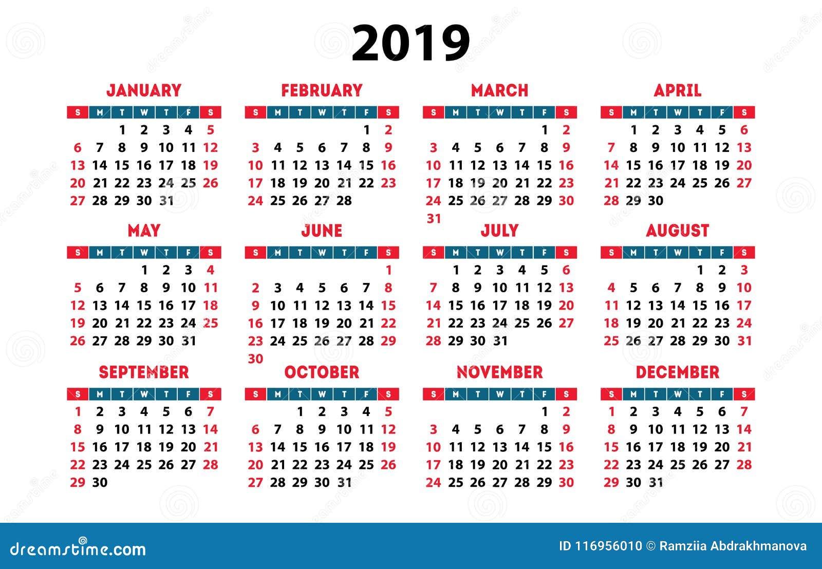 Calendario 2019 Para Imprimir Gratis.Imprimir Calendarios 2019 Suzen Rabionetassociats Com