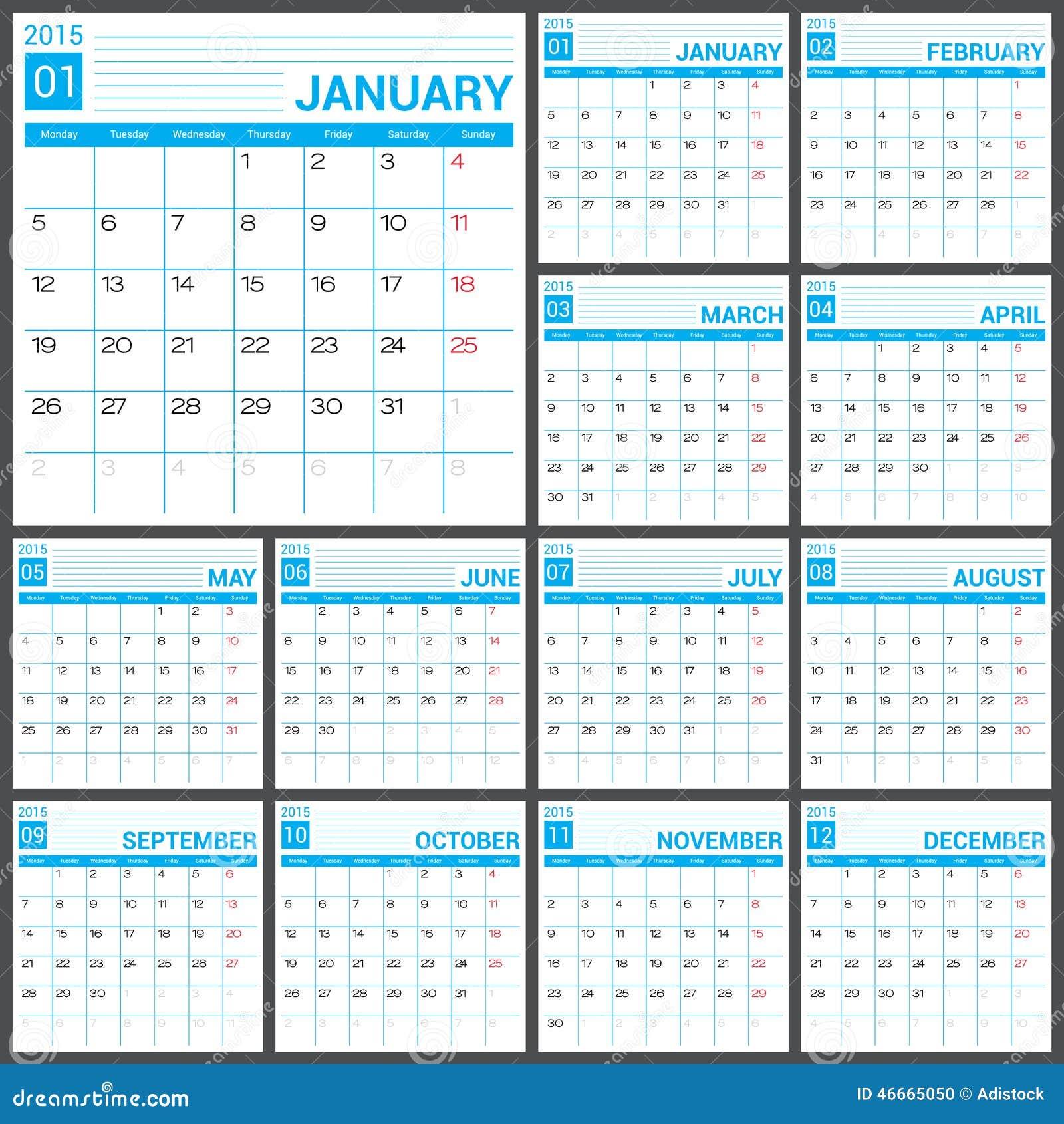 Blank Calendar Svg : Calendar vector desing template stock image