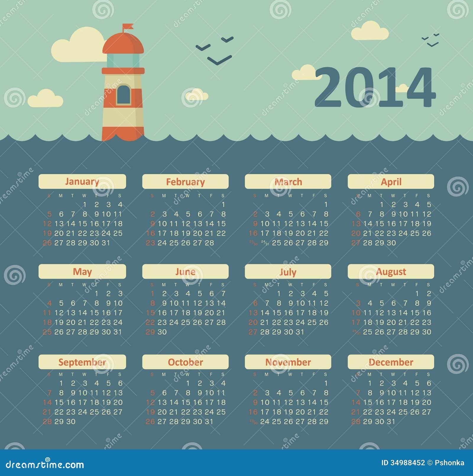 Calendar Number Design : Calendar stock vector illustration of number design