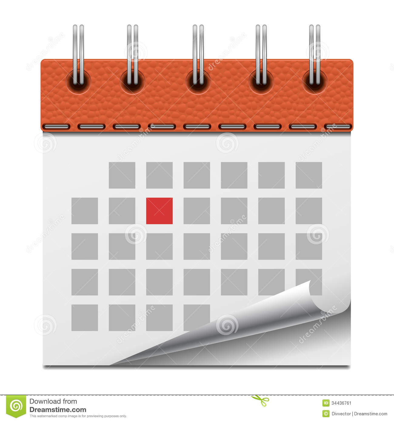 Calendar Vector : Calendar stock vector image of graphic organizer month
