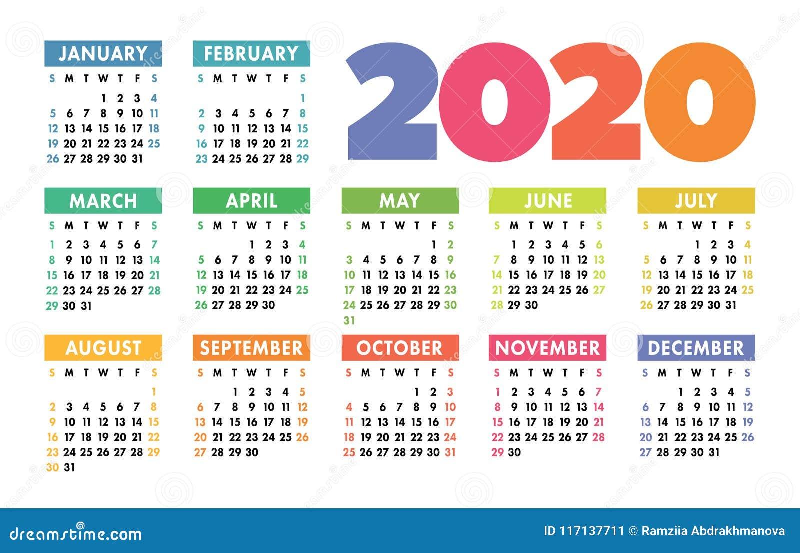 Calendario 2020 Inter.Template Calendario 2020 Italiano Calendario 2020