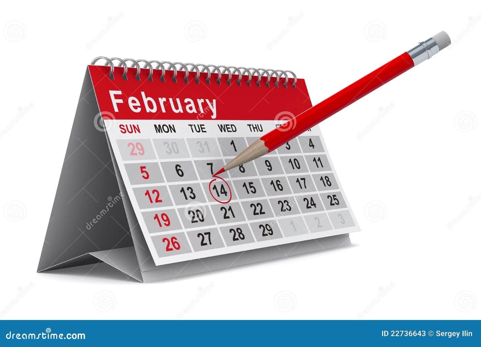 Calendar Sheet Rubber : Calendar on white background stock illustration