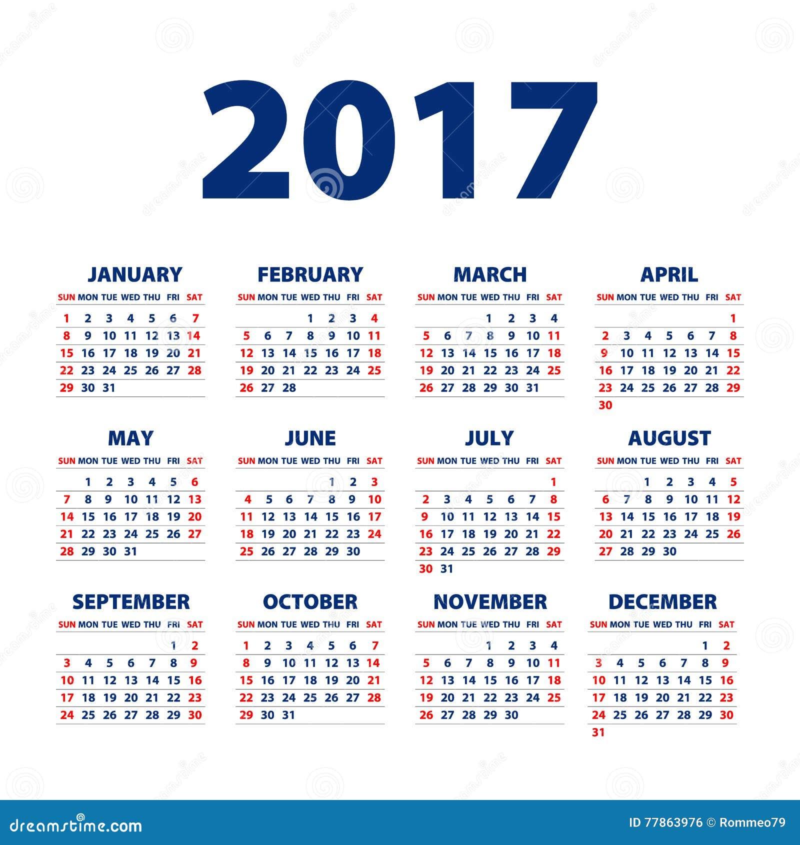 Calendar Background Vector : Calendar for on white background vector eps stock
