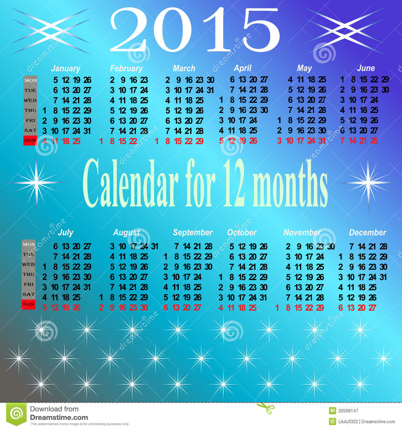 Event Calendar For Organization : Calendar for year royalty free stock photography