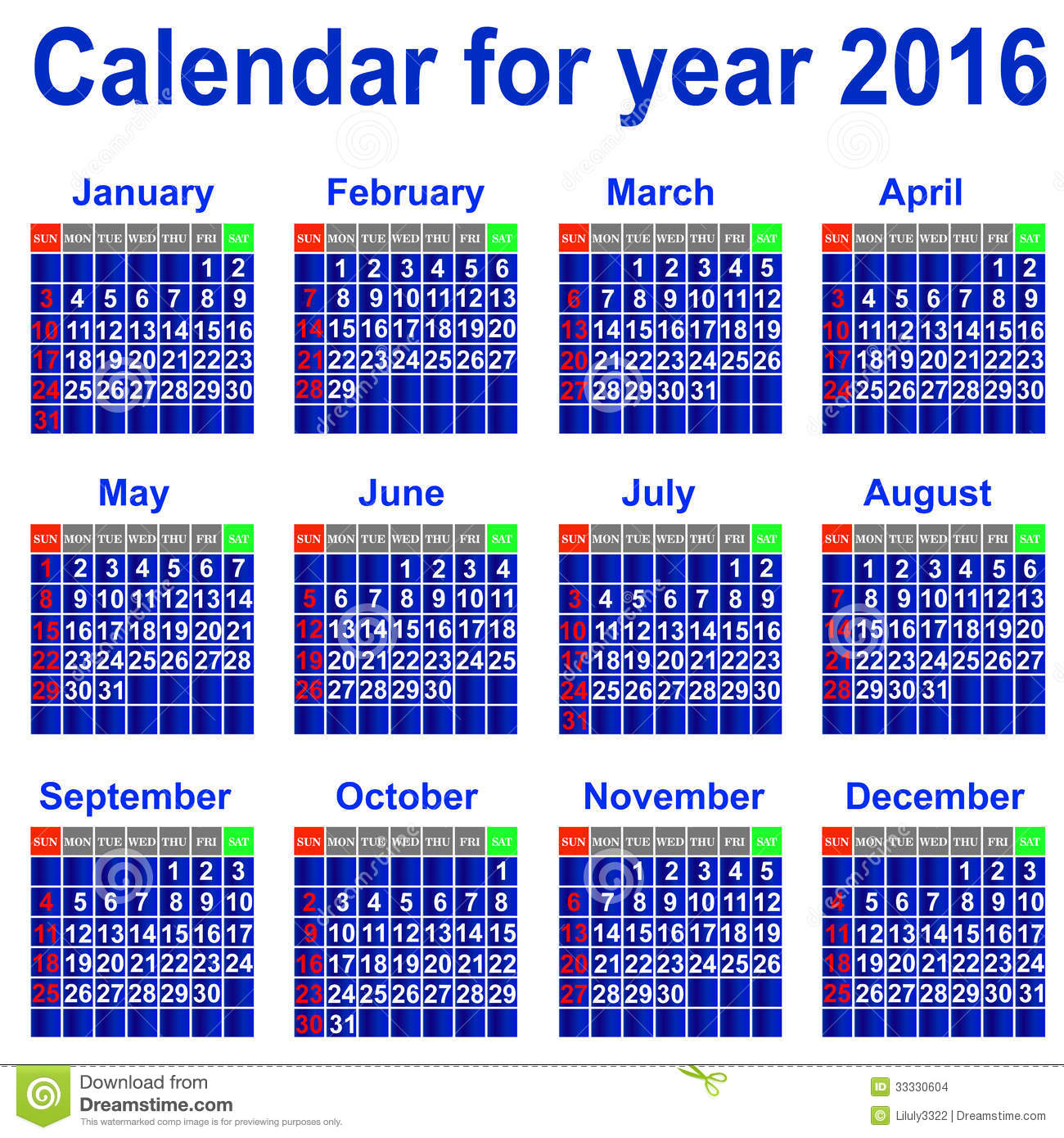 Event Calendar For Organization : Calendar for year stock images image