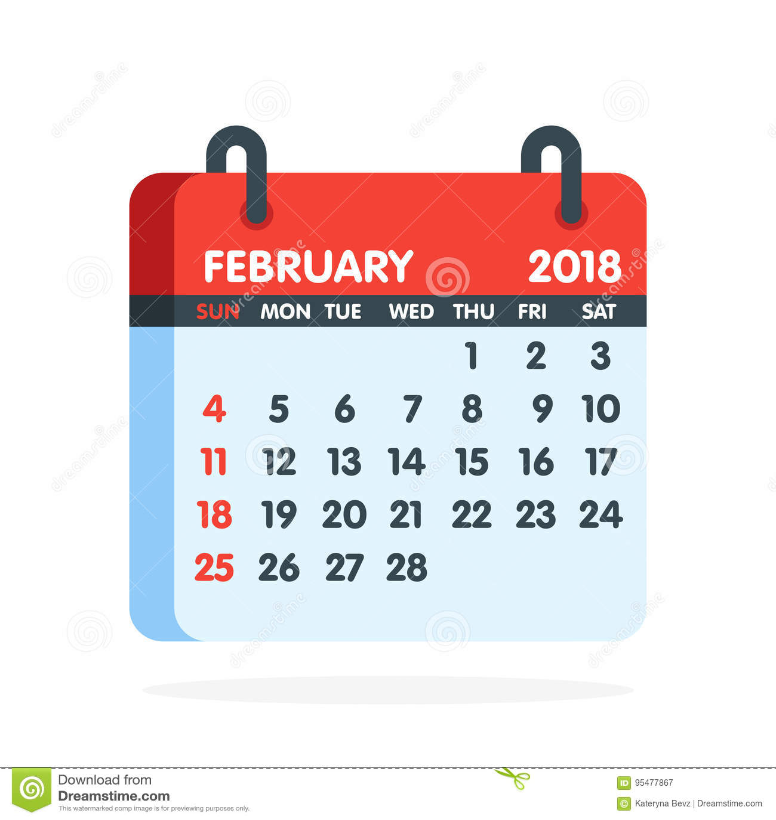 February Calendar Illustration : February calendar stock photo cartoondealer