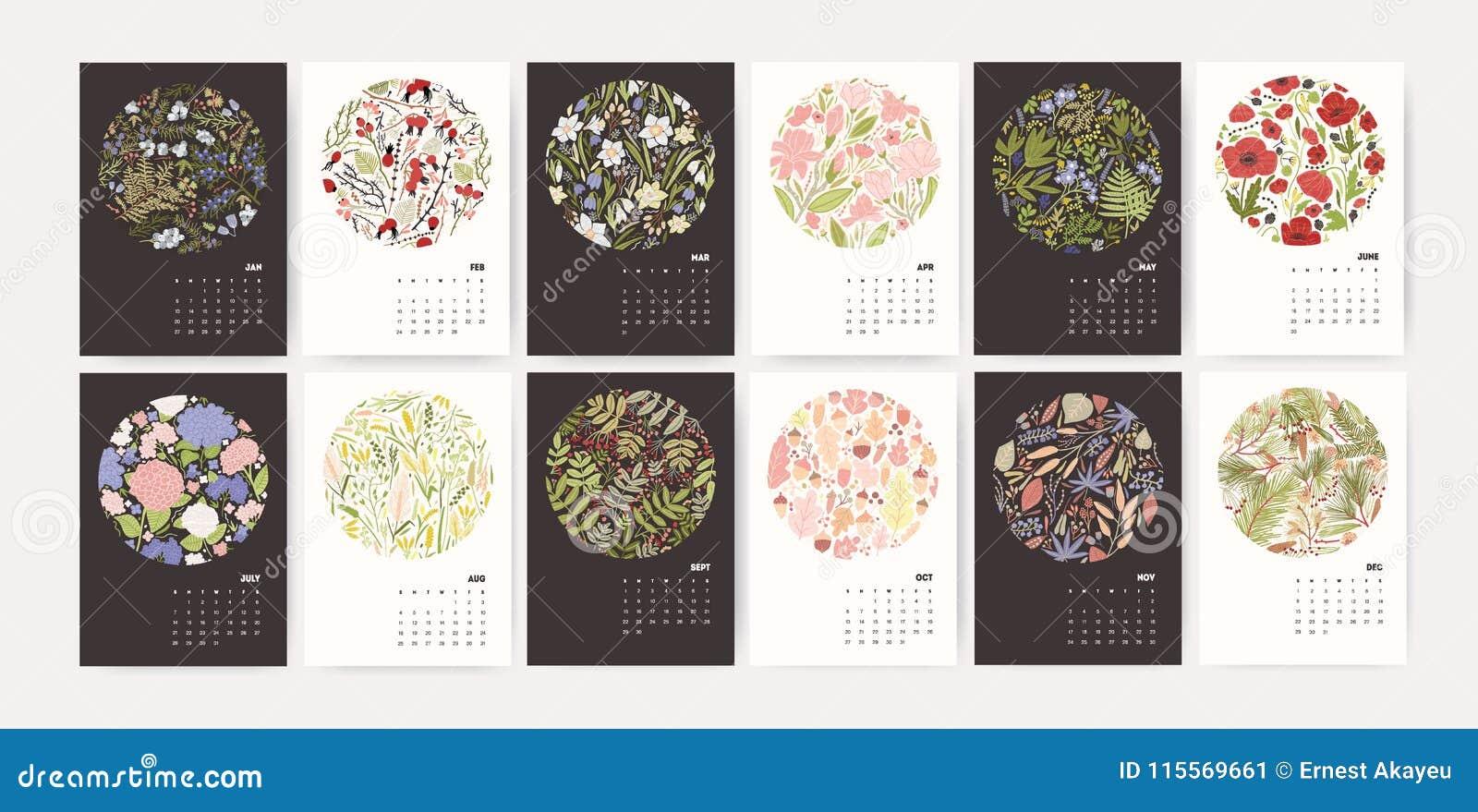 months of the year calendar