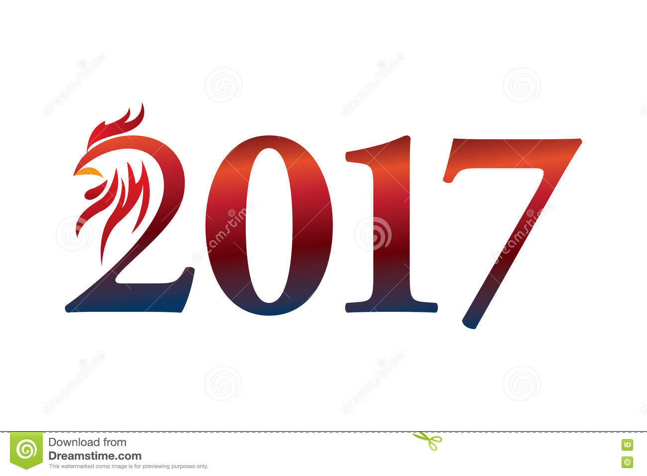 Calendar 2017 Year Of The Rooster: Chinese Zodiac Sign Stock ...