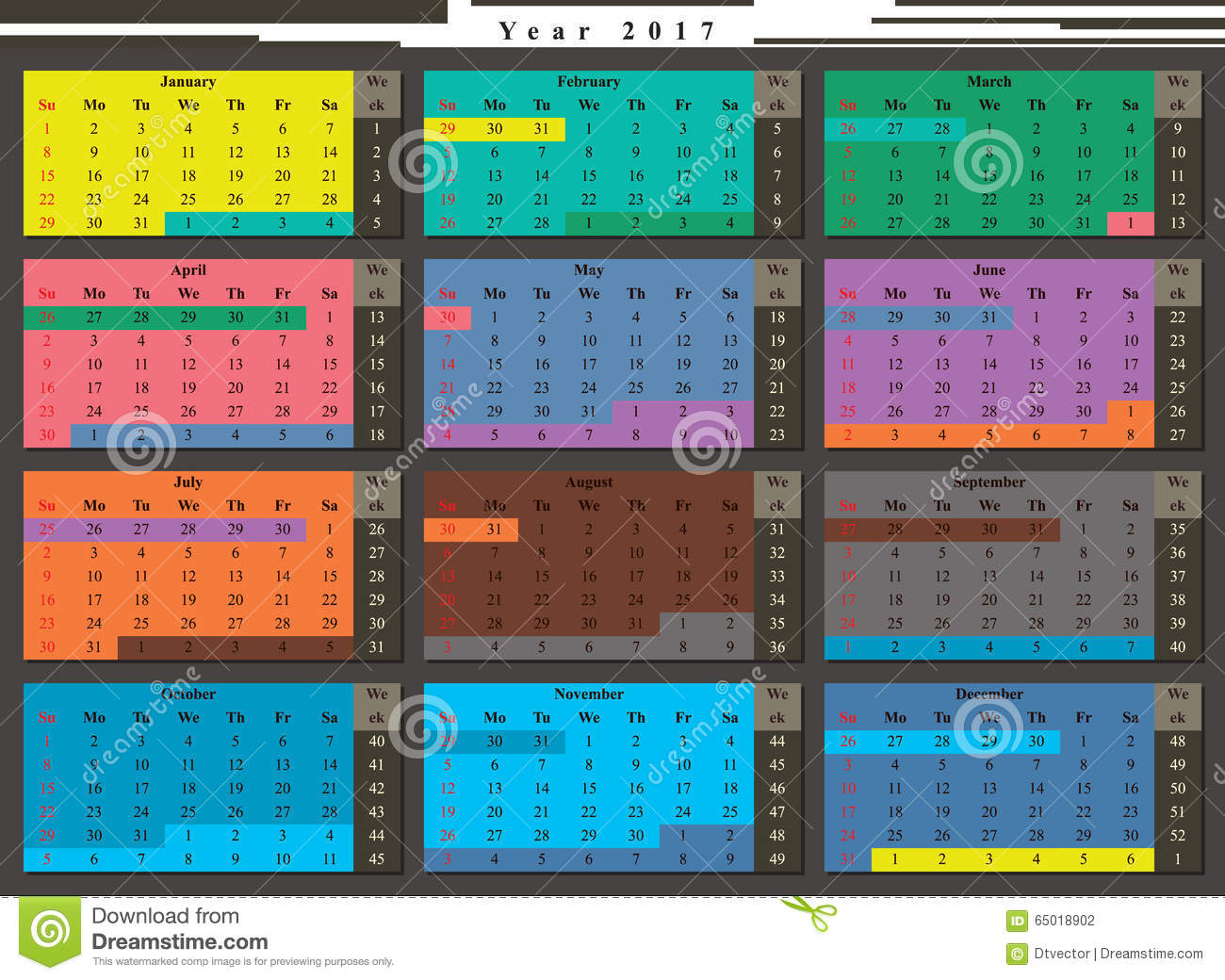 graphical weekly calendar