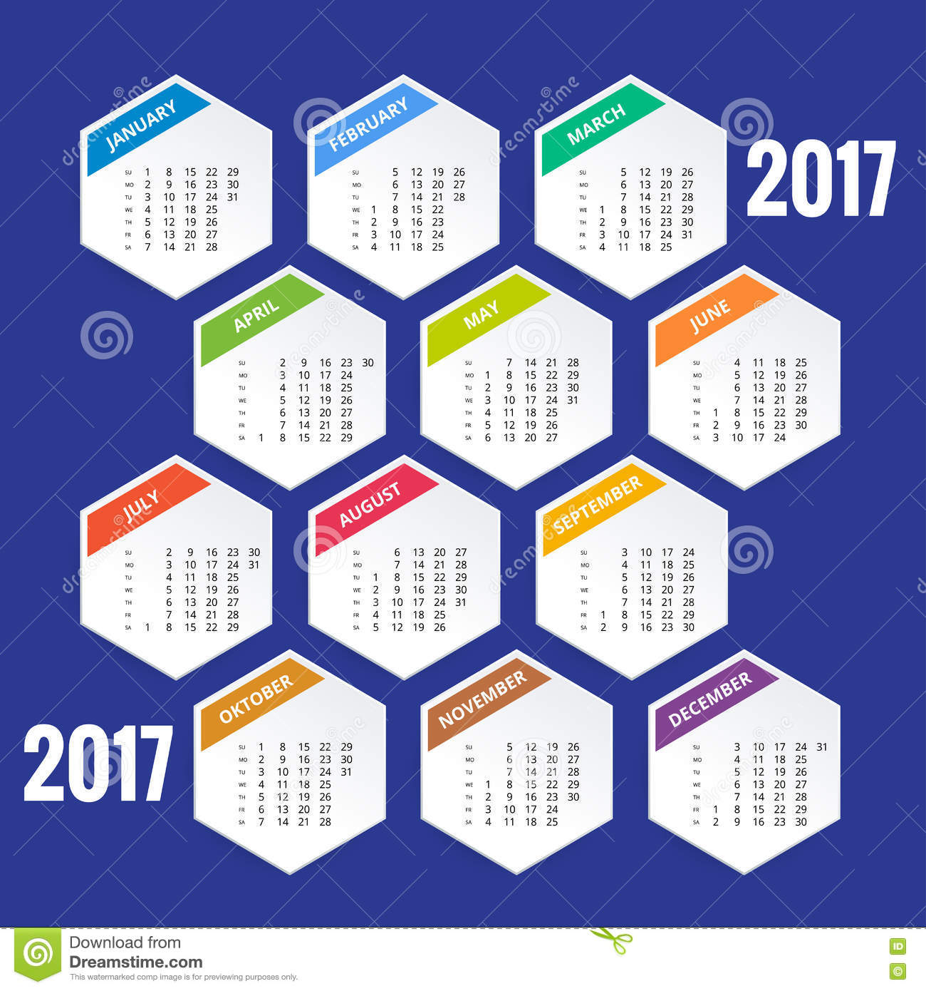 Calendar for 2017 stock vector image 76158586 for Time design planner