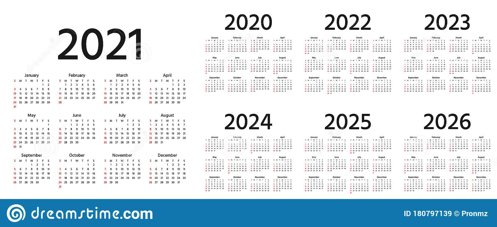 Calendrier Trial 4×4 2022 Calendar 2021 2022 2023 2024 2025 2026 2020 Years. Vector