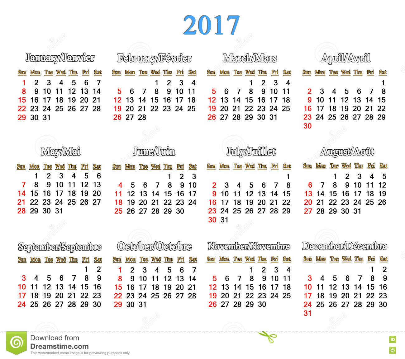 Next Year Calendar : Calendar for years on the white stock illustration