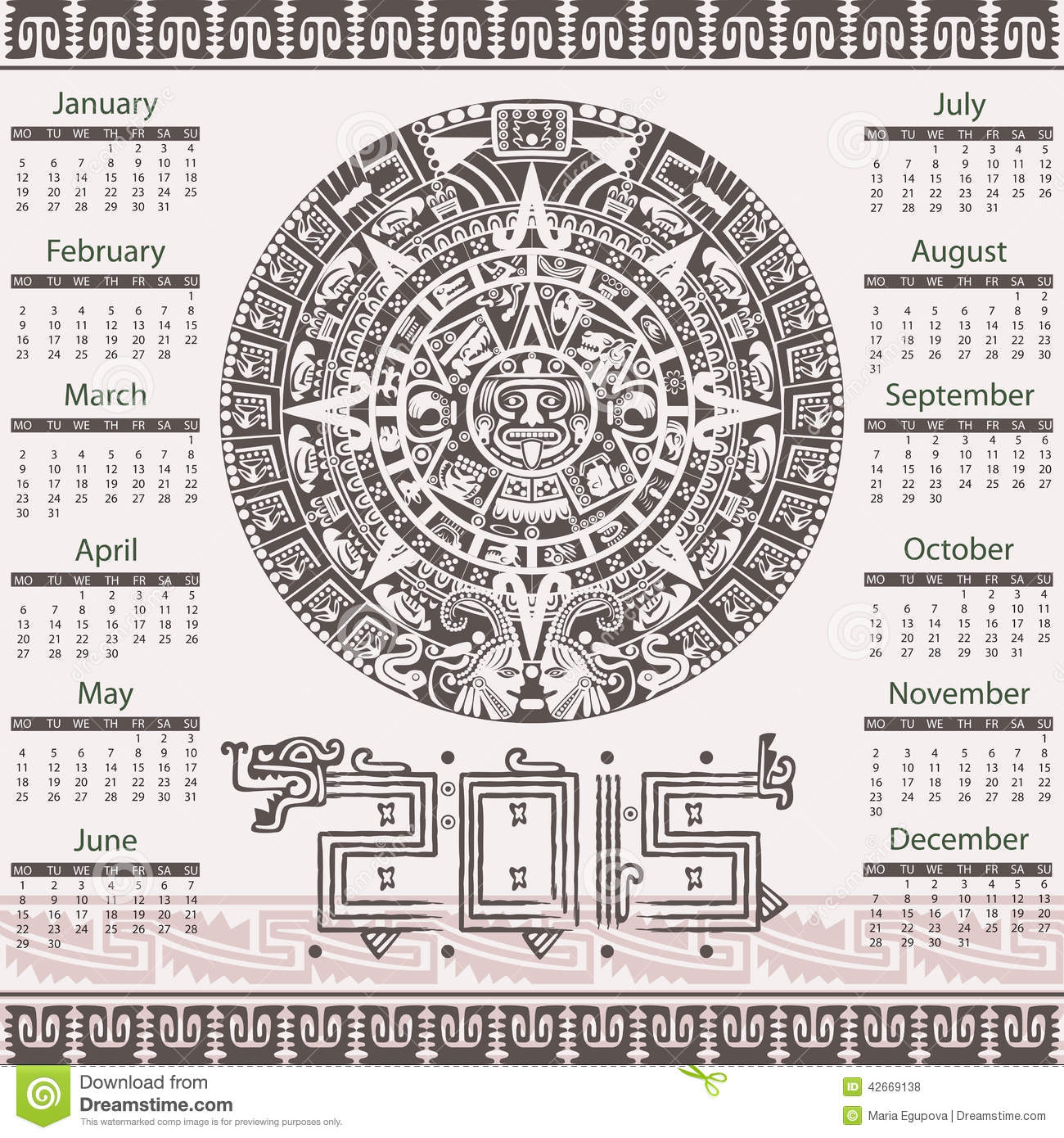 how to draw the aztec calendar