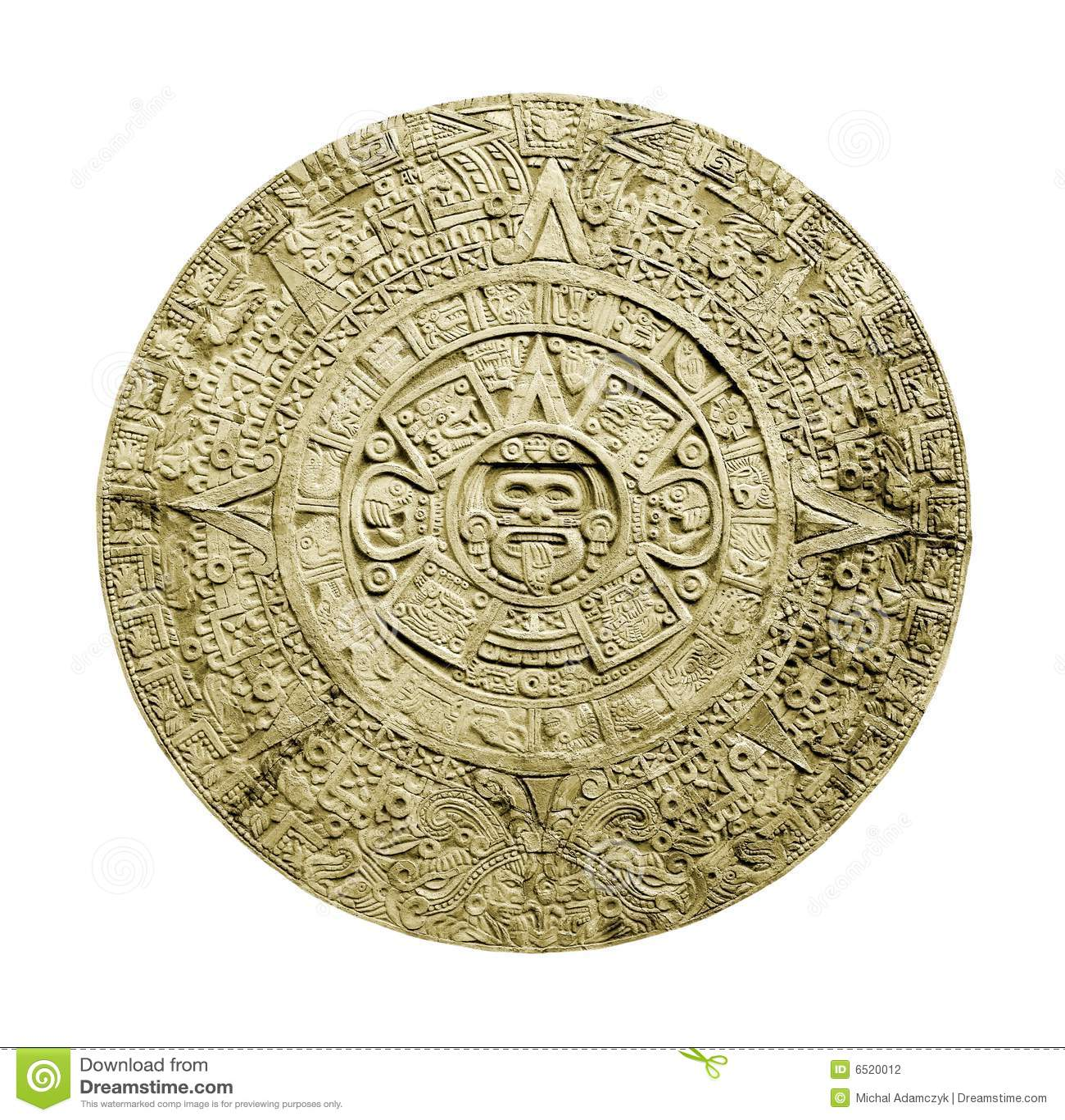 Calendario Azteca Precolombino Sagrado Imagen de archivo - Imagen de ...