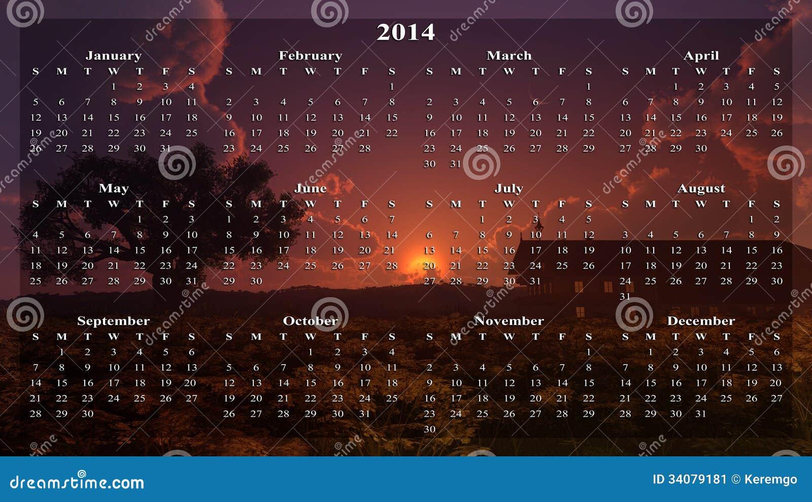Calendario casero de la puesta del sol imagen de archivo for Del sol horario
