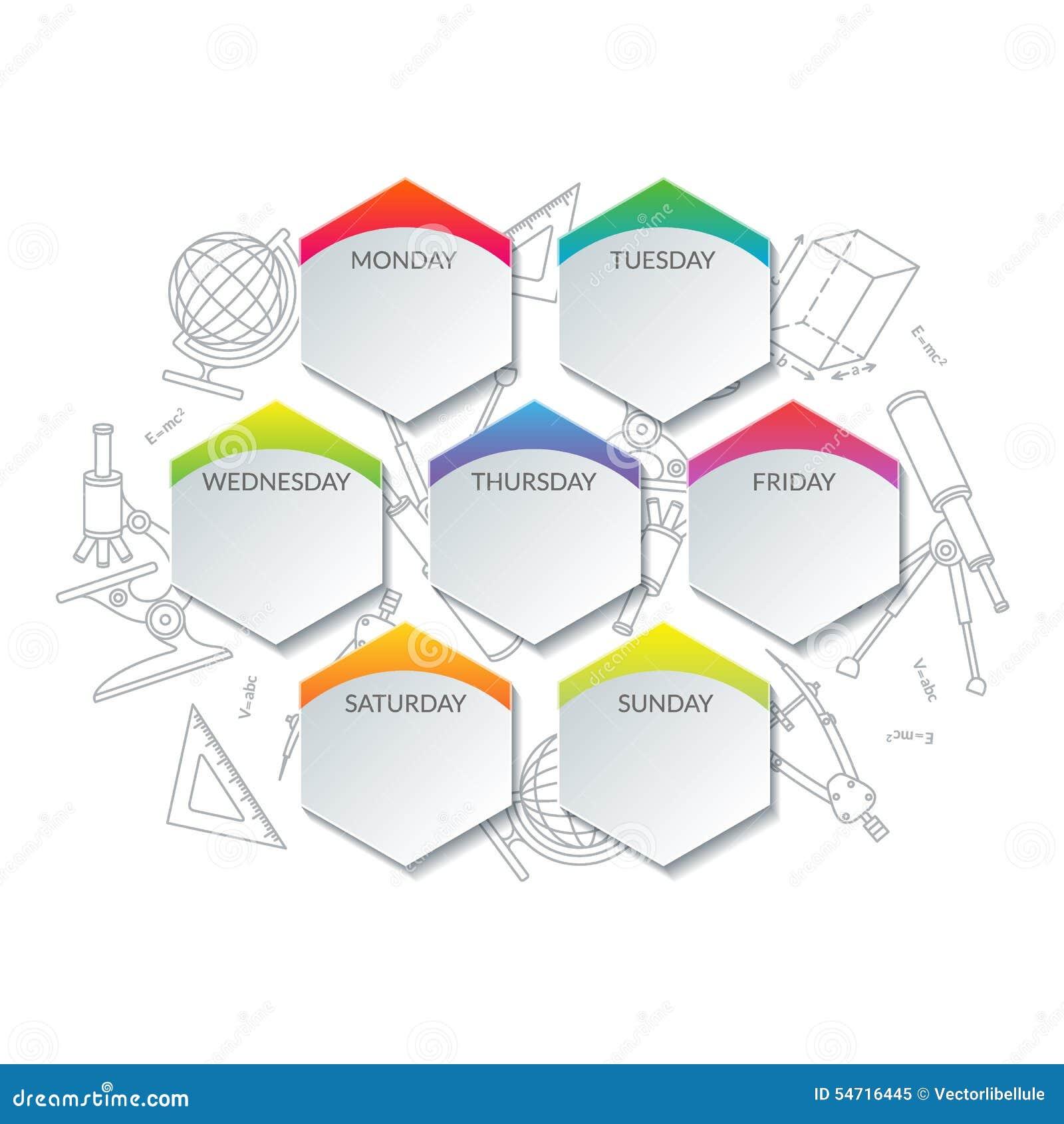 Calendario Día A Día De Actividades Para La Escuela O La Universidad ...