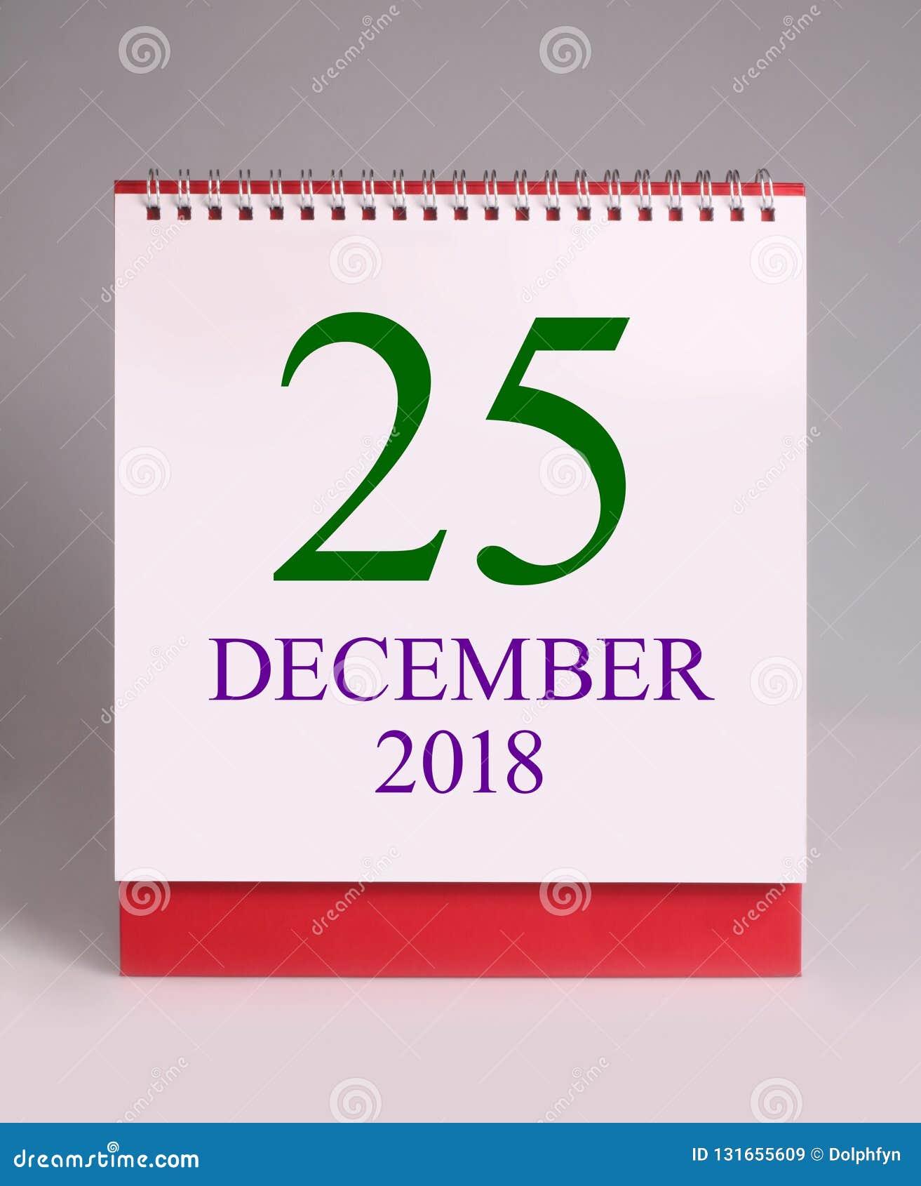 Calendario Significato.Calendario Da Scrivania Semplice Per Il Natale Vi Auguriamo