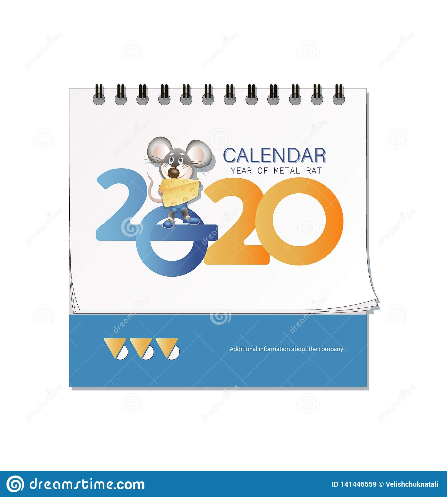 Calendario Da Scrivania 2020.Calendario Da Scrivania 2020 Topo Con Formaggio Il Simbolo