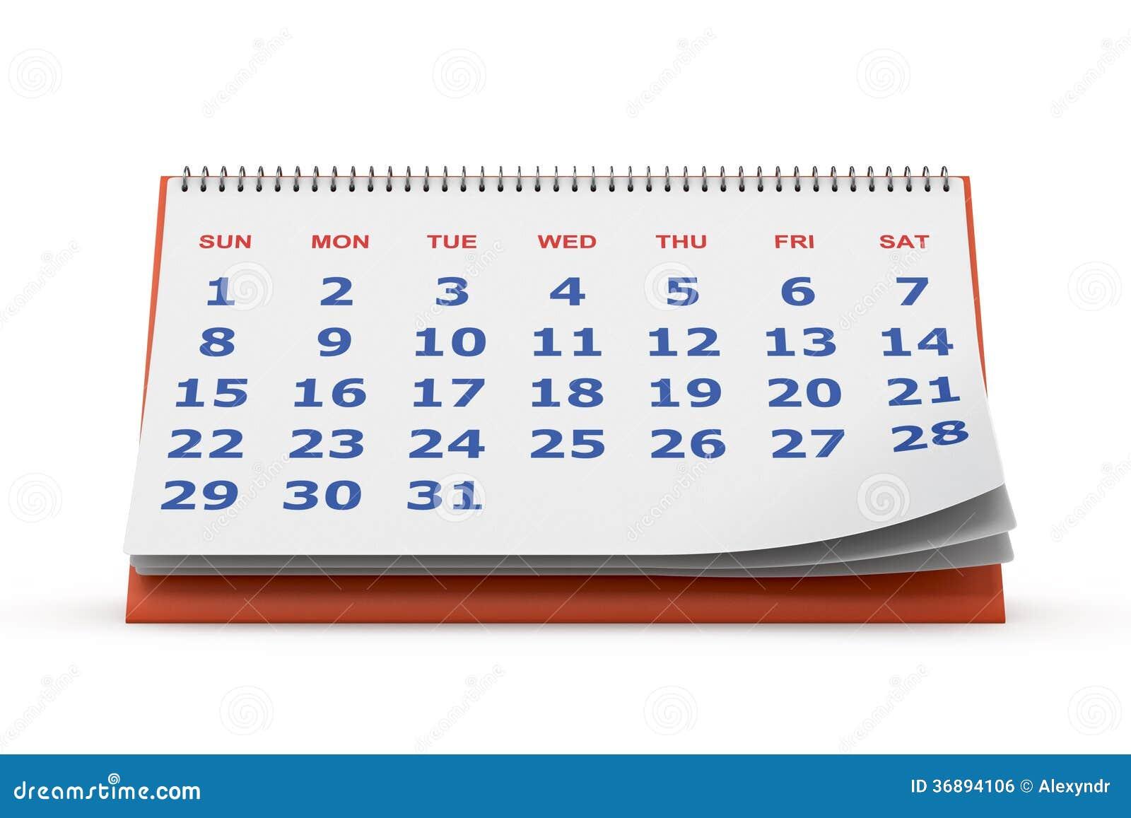 Download Calendario da tavolino illustrazione di stock. Illustrazione di oggetto - 36894106