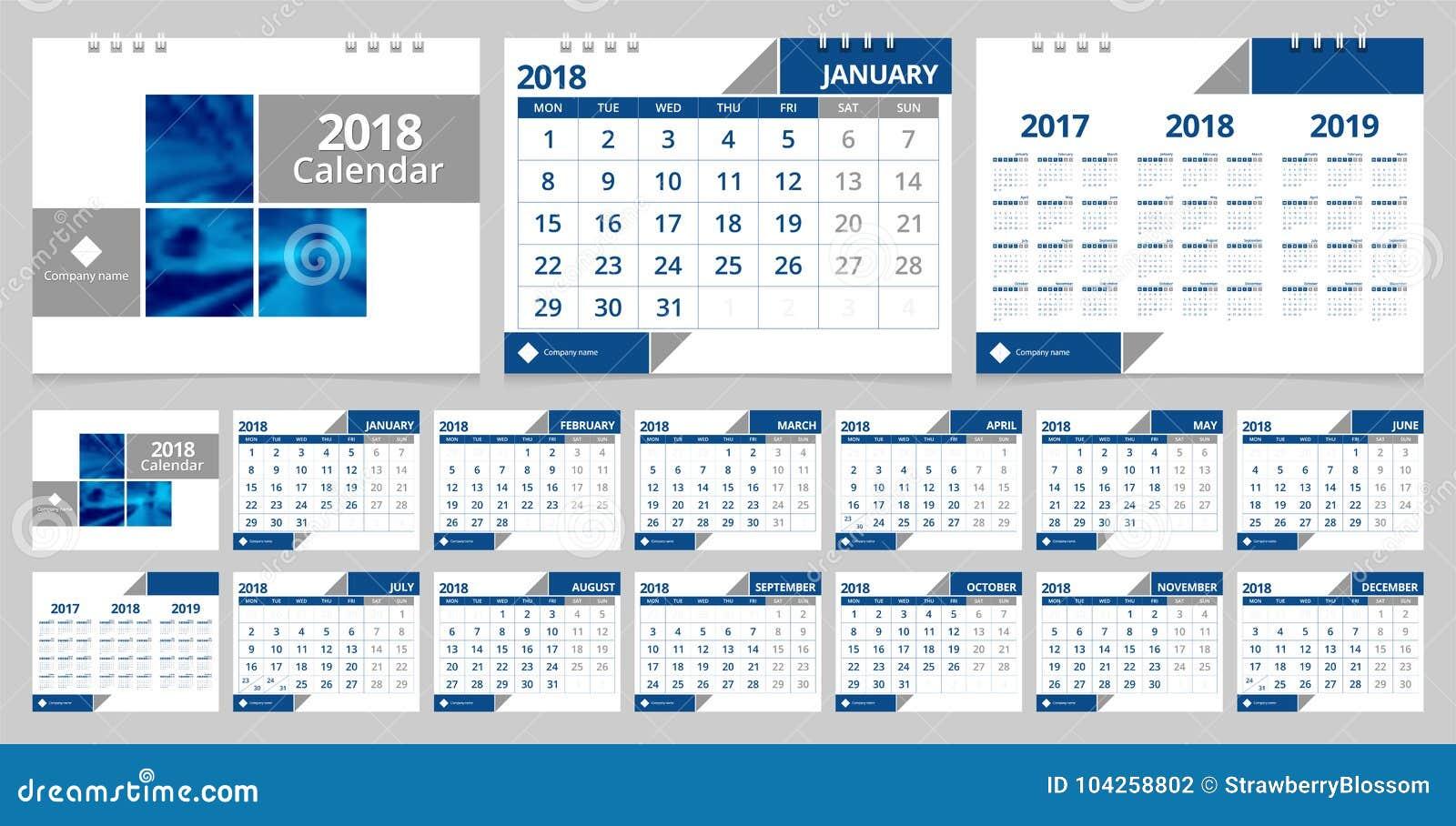 Calendario de escritorio 2018