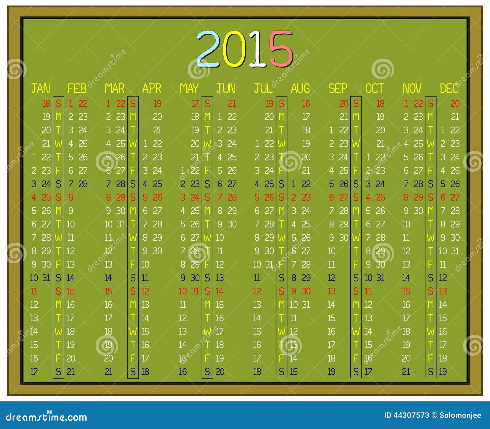 Dia Juliano Calendario 2015 | newhairstylesformen2014.com