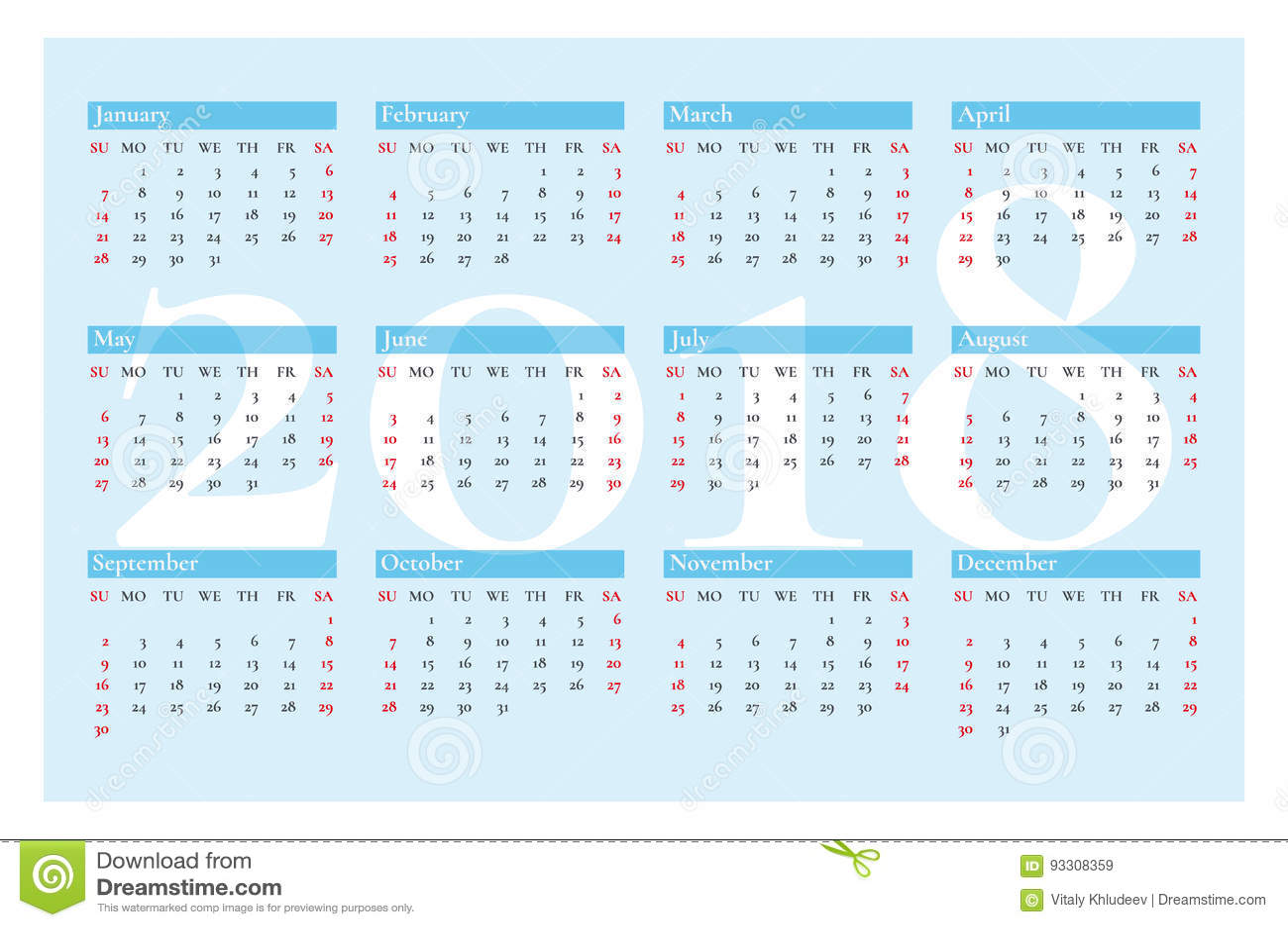 Calendario De Bolsillo Gratis Del Augetype Fct003
