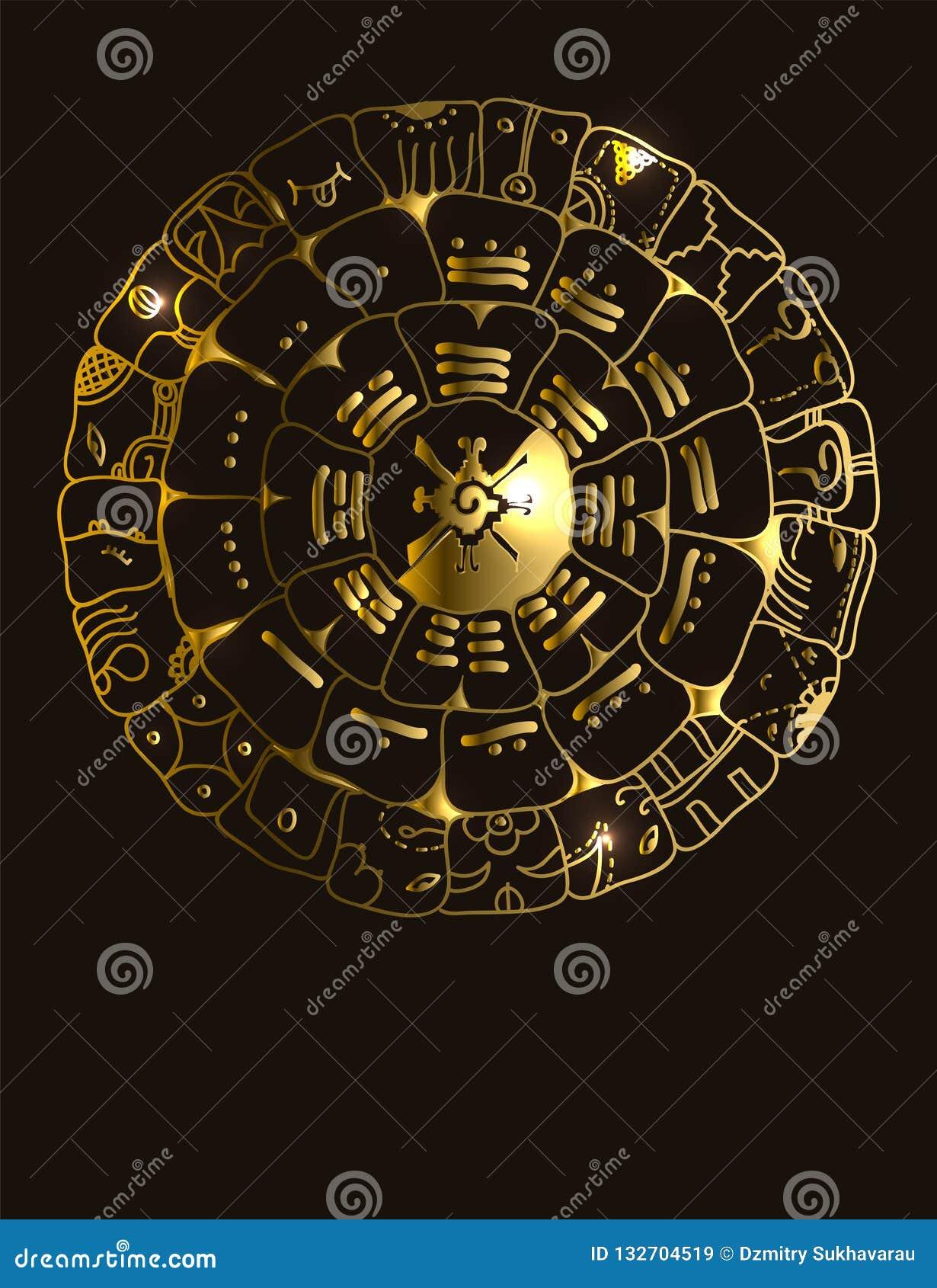Calendario Inca Simbolos.Calendario Del Maya De Las Muestras Mayas O Aztecas Del