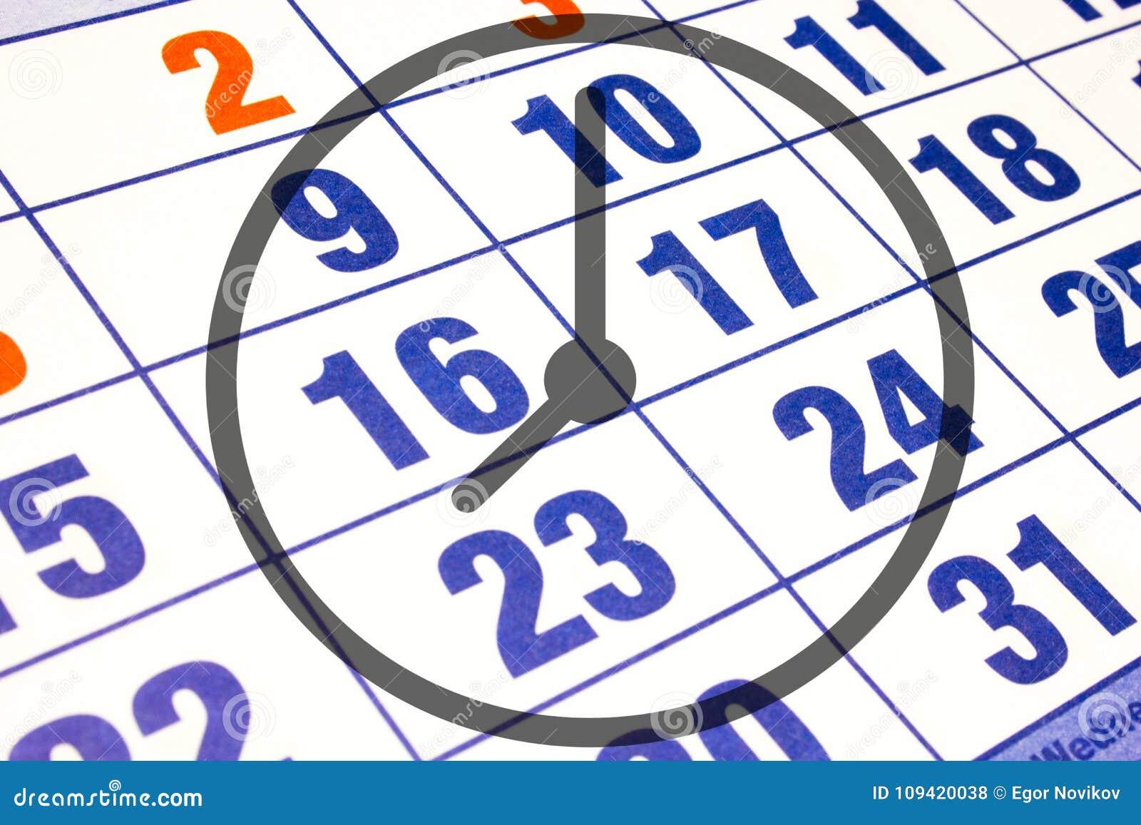 Calendario Con Numero Giorni.Calendario Del Calendario Murale Con Il Numero Dei Giorni E