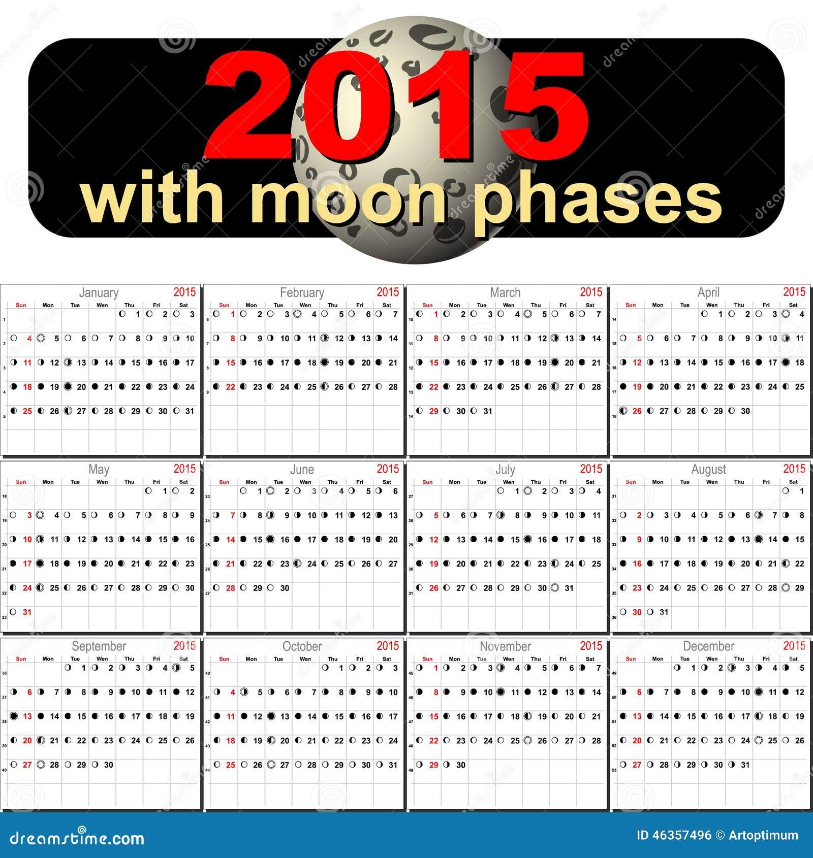 fases de la luna 2015 y 2016 calendario de fases lunares