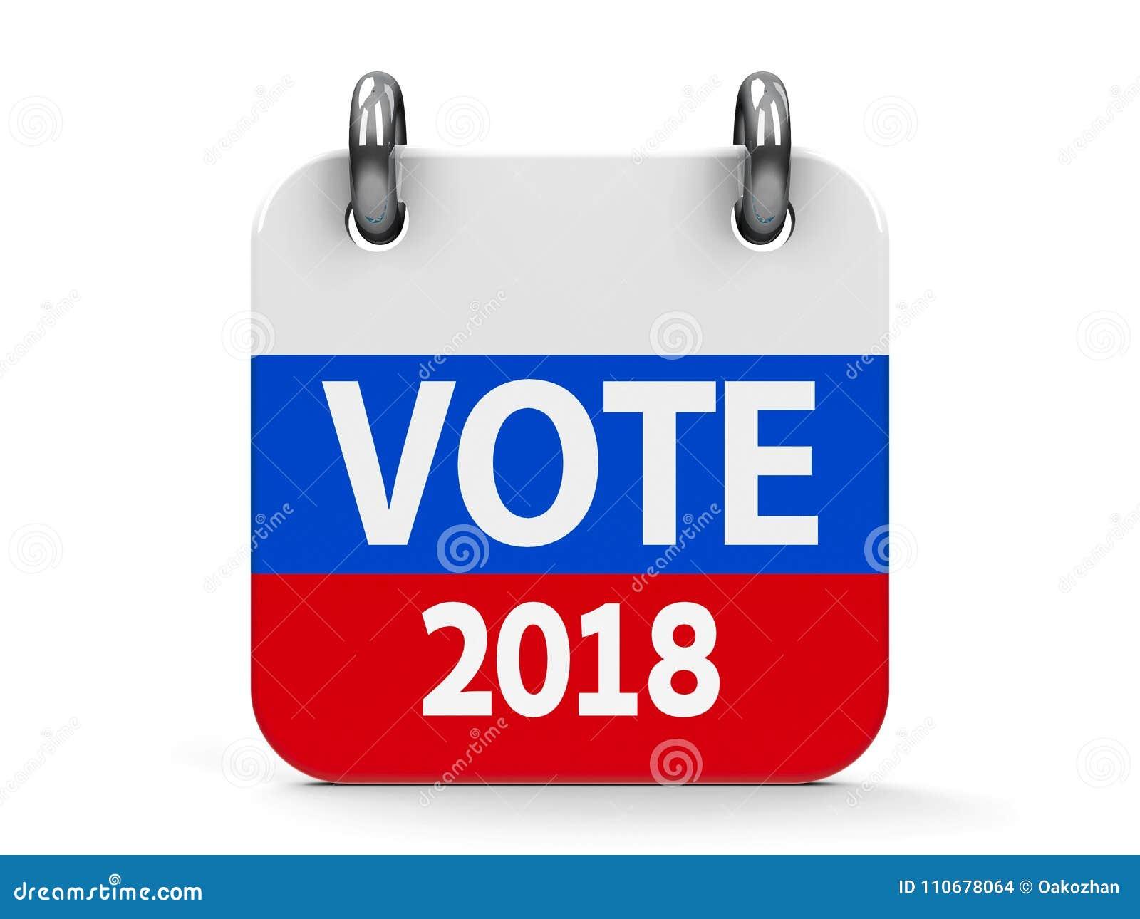 Calendario Elezioni.Calendario 2018 Dell Icona Di Elezione Di Voto Illustrazione