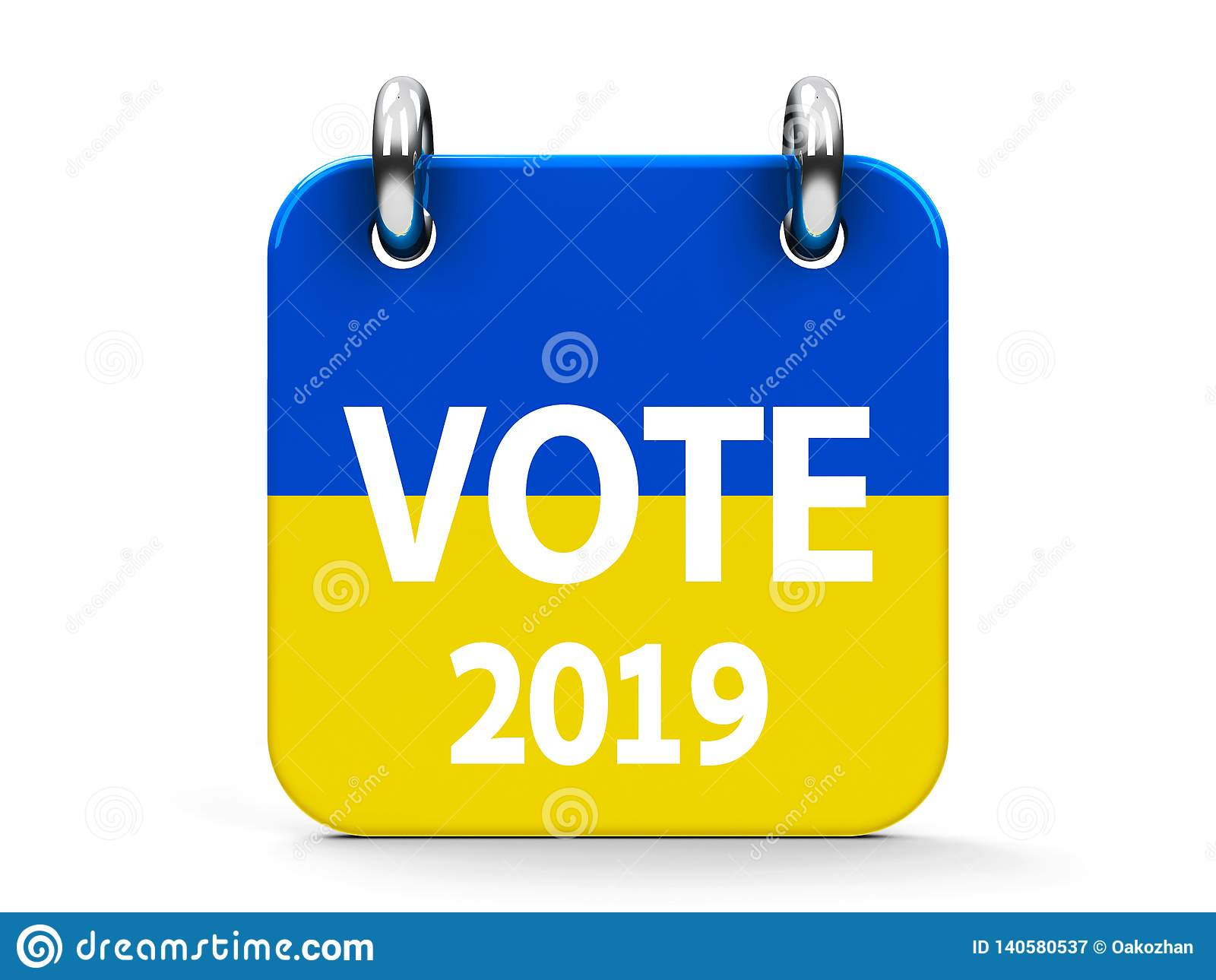 Calendario Elezioni.Calendario 2019 Dell Icona Di Elezione Di Voto Illustrazione
