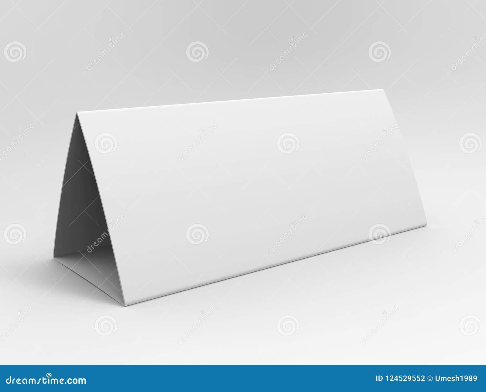 Calendario della tenda della tabella in bianco per progettazione del modello 3d rendono l illustrazione